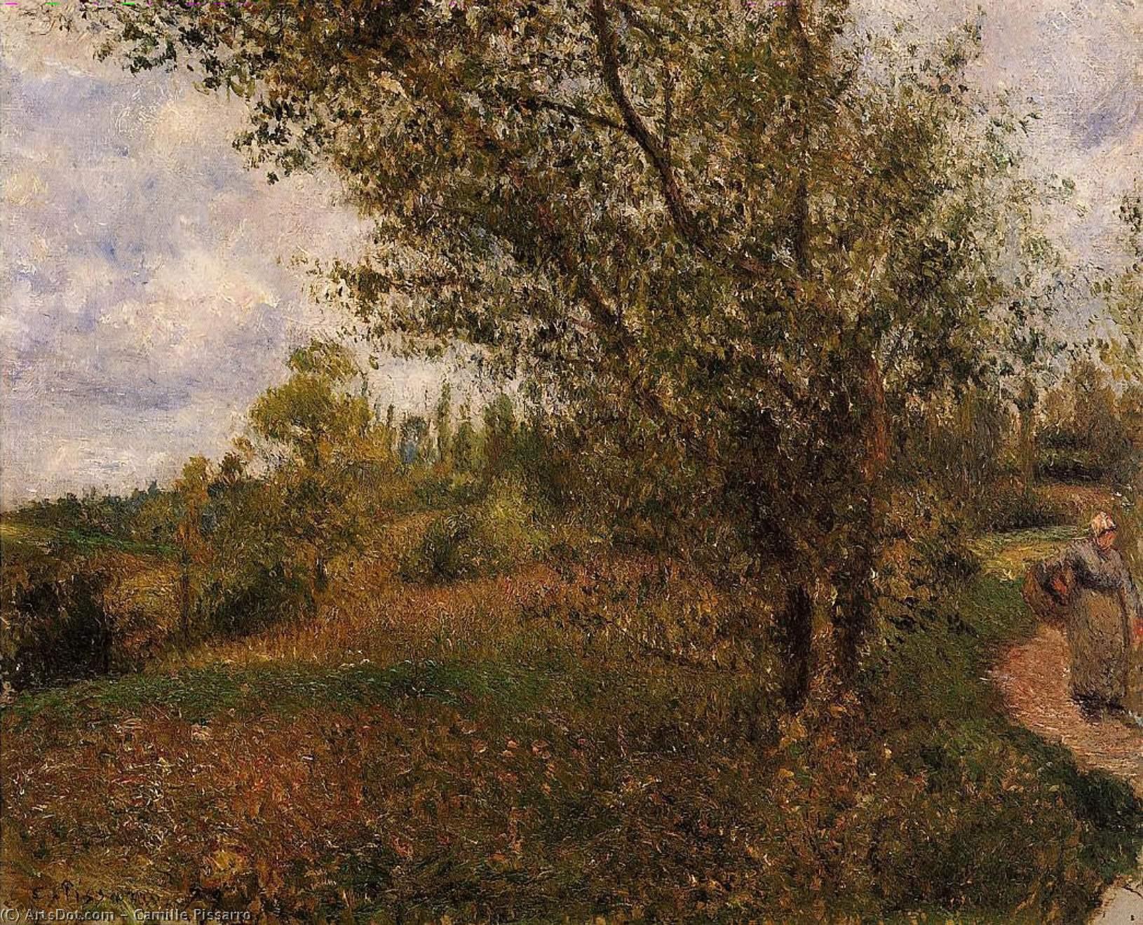 Wikioo.org - Die Enzyklopädie bildender Kunst - Malerei, Kunstwerk von Camille Pissarro - pontoise landschaft durch  der  felder