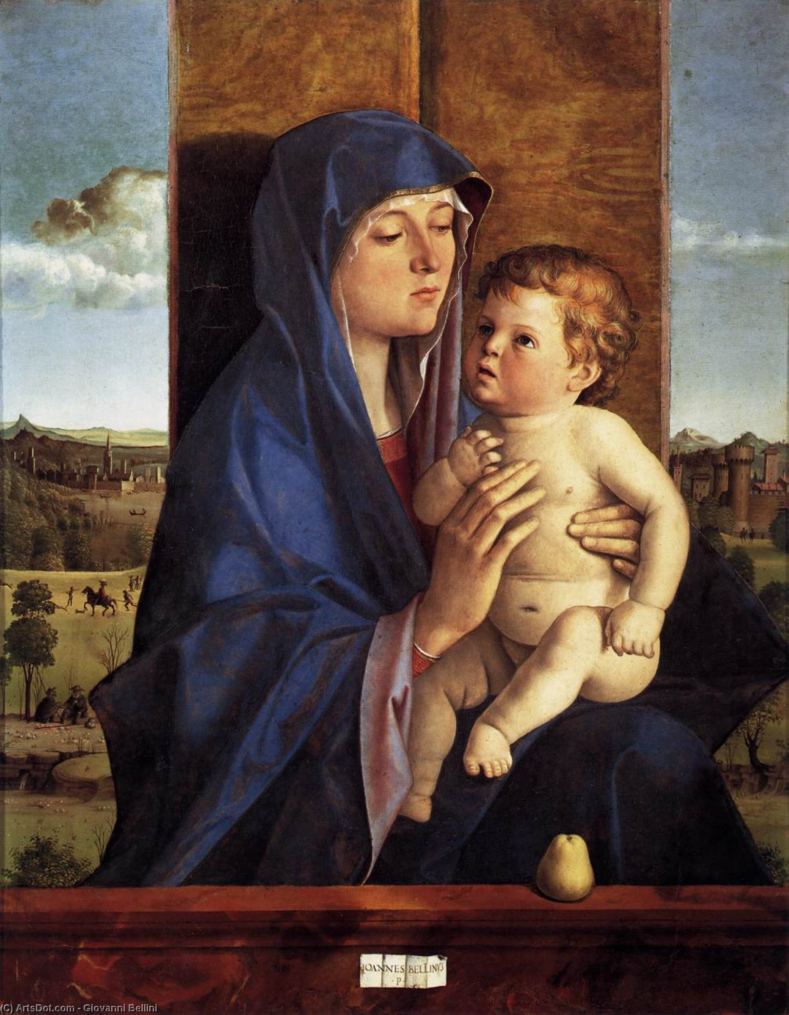 Wikioo.org - The Encyclopedia of Fine Arts - Painting, Artwork by Giovanni Bellini - Madonna and Child