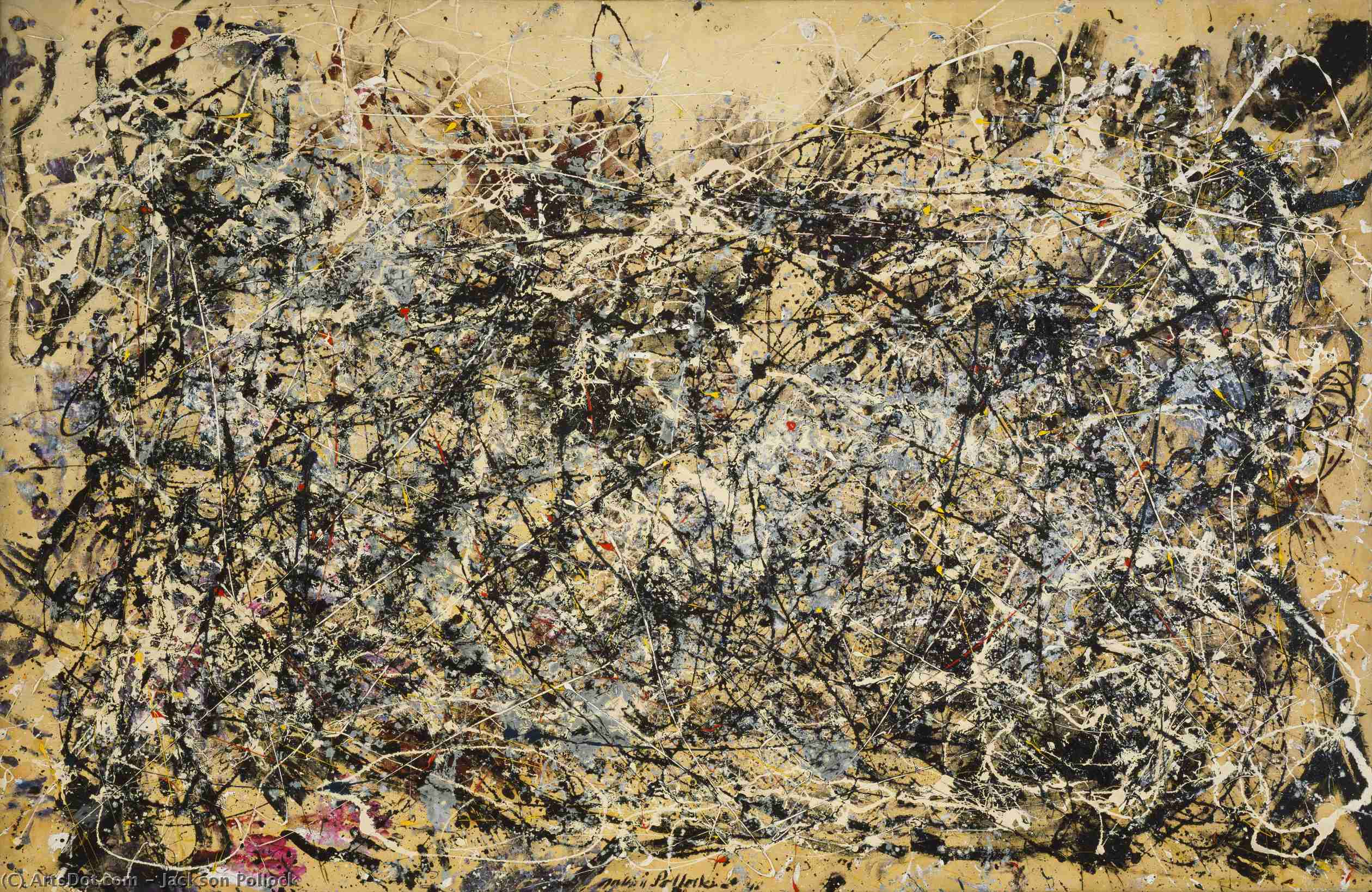 Wikioo.org - The Encyclopedia of Fine Arts - Painting, Artwork by Jackson Pollock - Number 1, 1949
