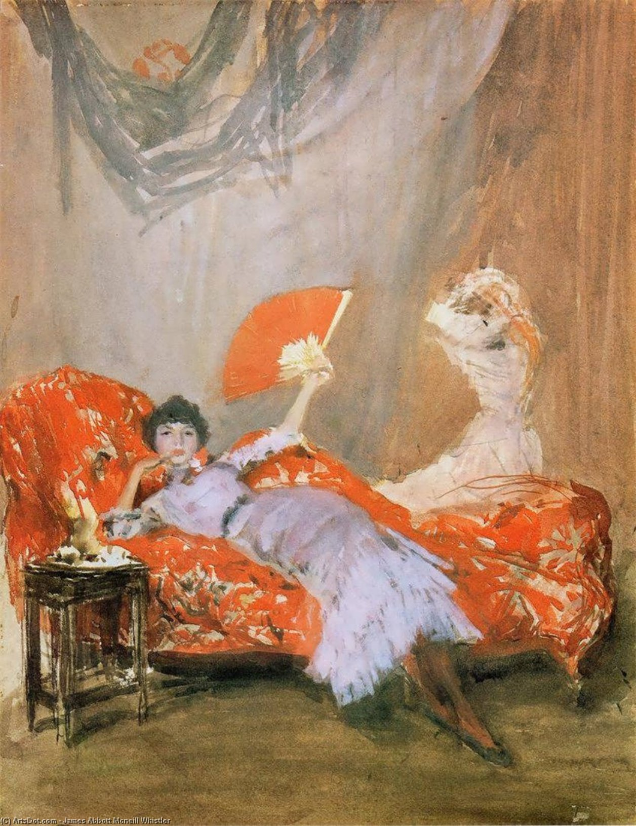 Wikioo.org - The Encyclopedia of Fine Arts - Painting, Artwork by James Abbott Mcneill Whistler - Milly Finch