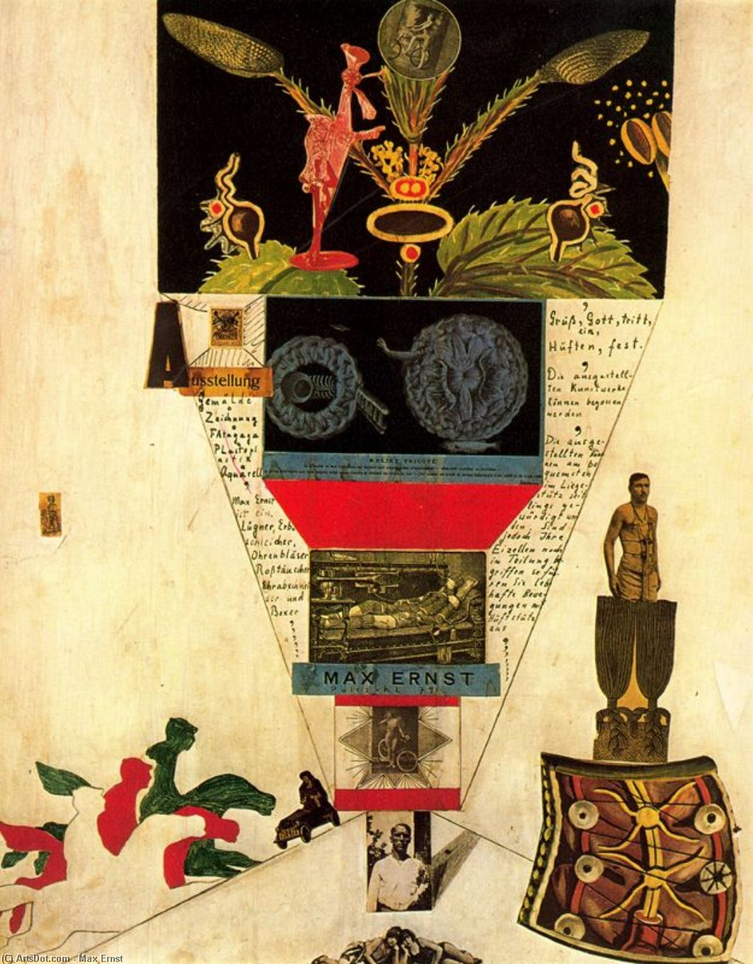 Wikioo.org - The Encyclopedia of Fine Arts - Painting, Artwork by Max Ernst - Progetto di manifesto