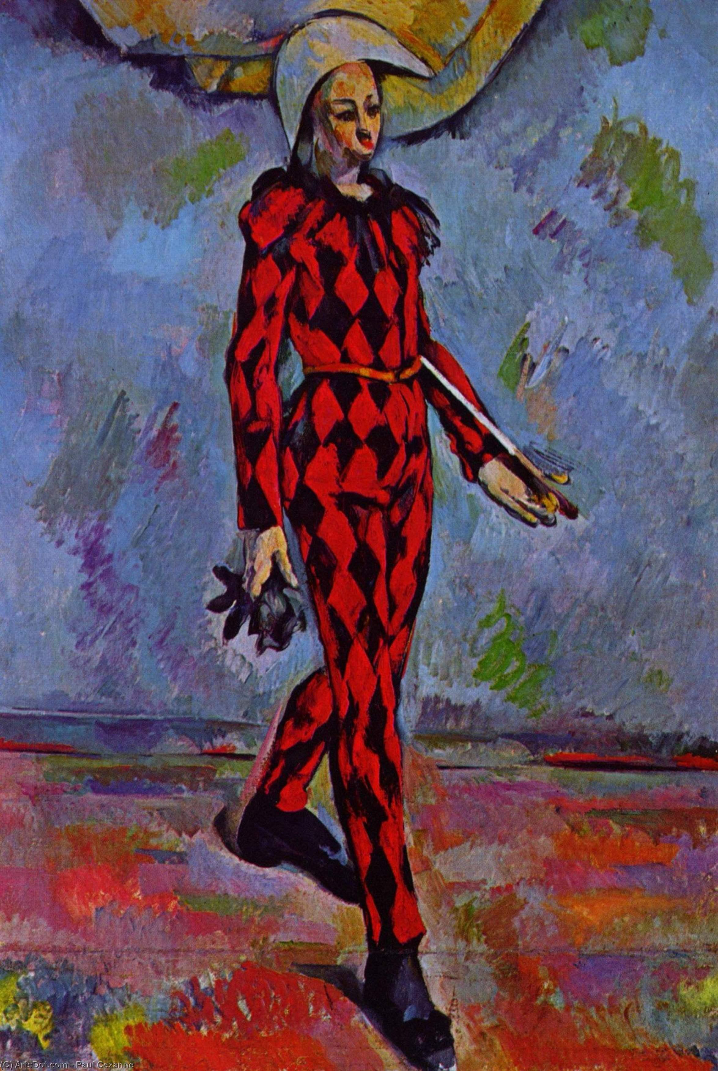 Wikioo.org – L'Enciclopedia delle Belle Arti - Pittura, Opere di Paul Cezanne - arlecchino 1