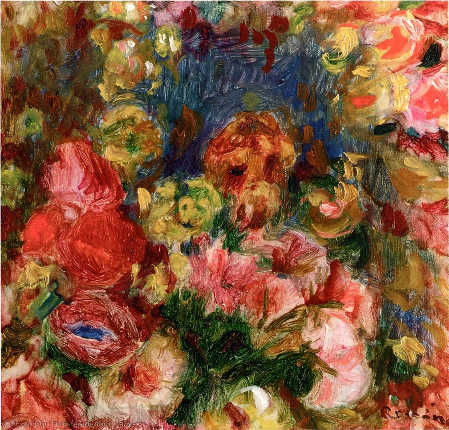 Wikioo.org - The Encyclopedia of Fine Arts - Painting, Artwork by Pierre-Auguste Renoir - Flowers