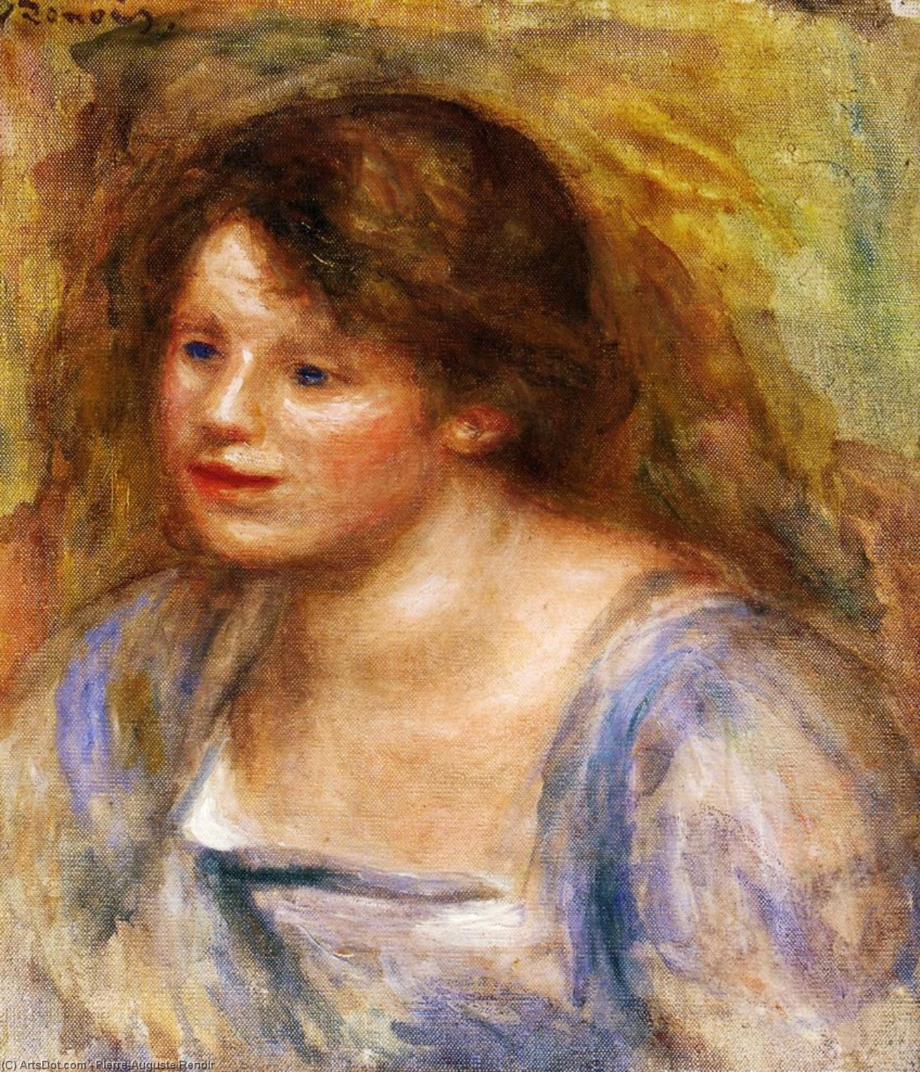 Wikioo.org - The Encyclopedia of Fine Arts - Painting, Artwork by Pierre-Auguste Renoir - Portrait of Lucienne