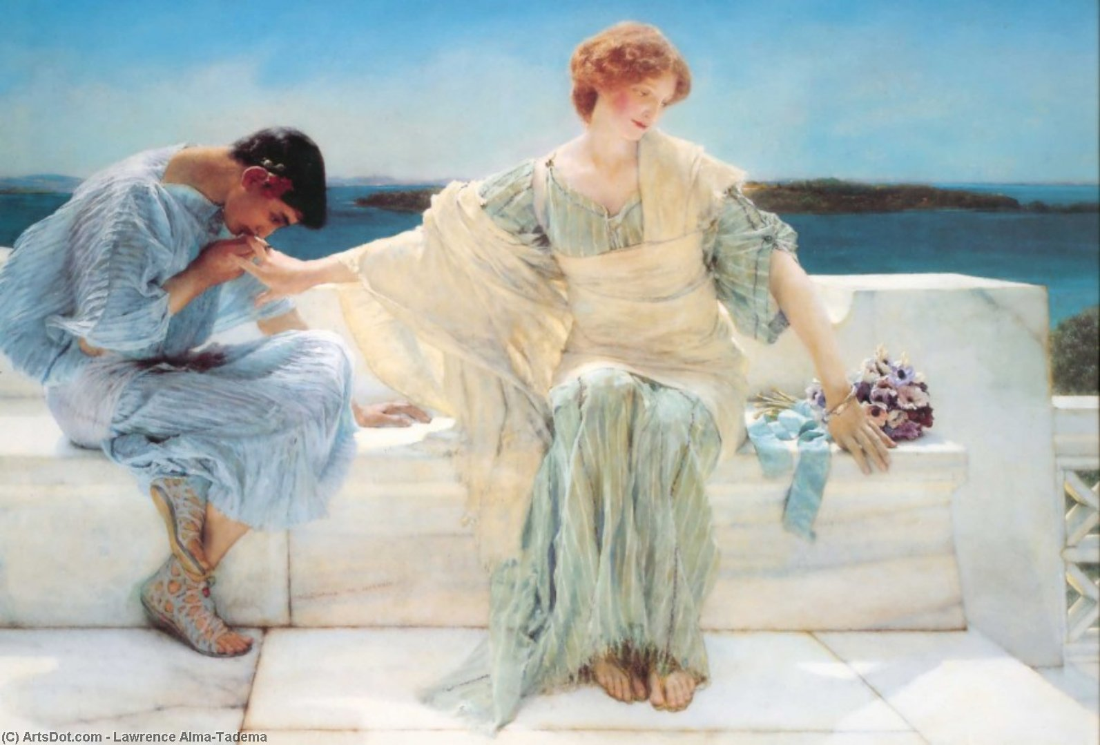Wikioo.org - The Encyclopedia of Fine Arts - Painting, Artwork by Lawrence Alma-Tadema - Ask Me No More
