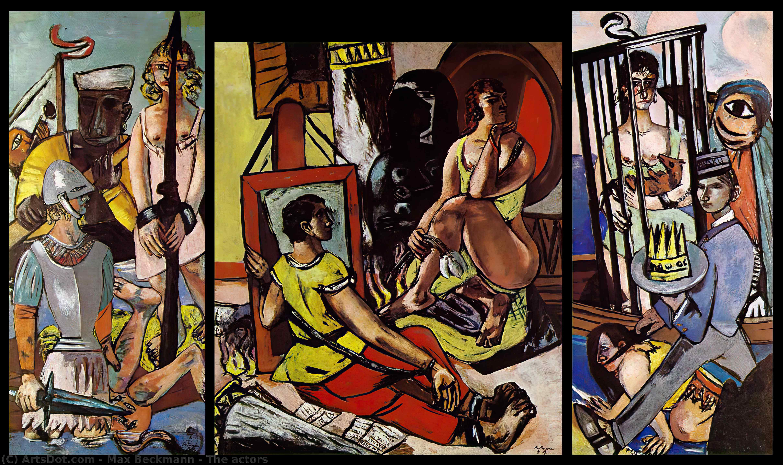 Wikoo.org - موسوعة الفنون الجميلة - اللوحة، العمل الفني Max Beckmann - The actors