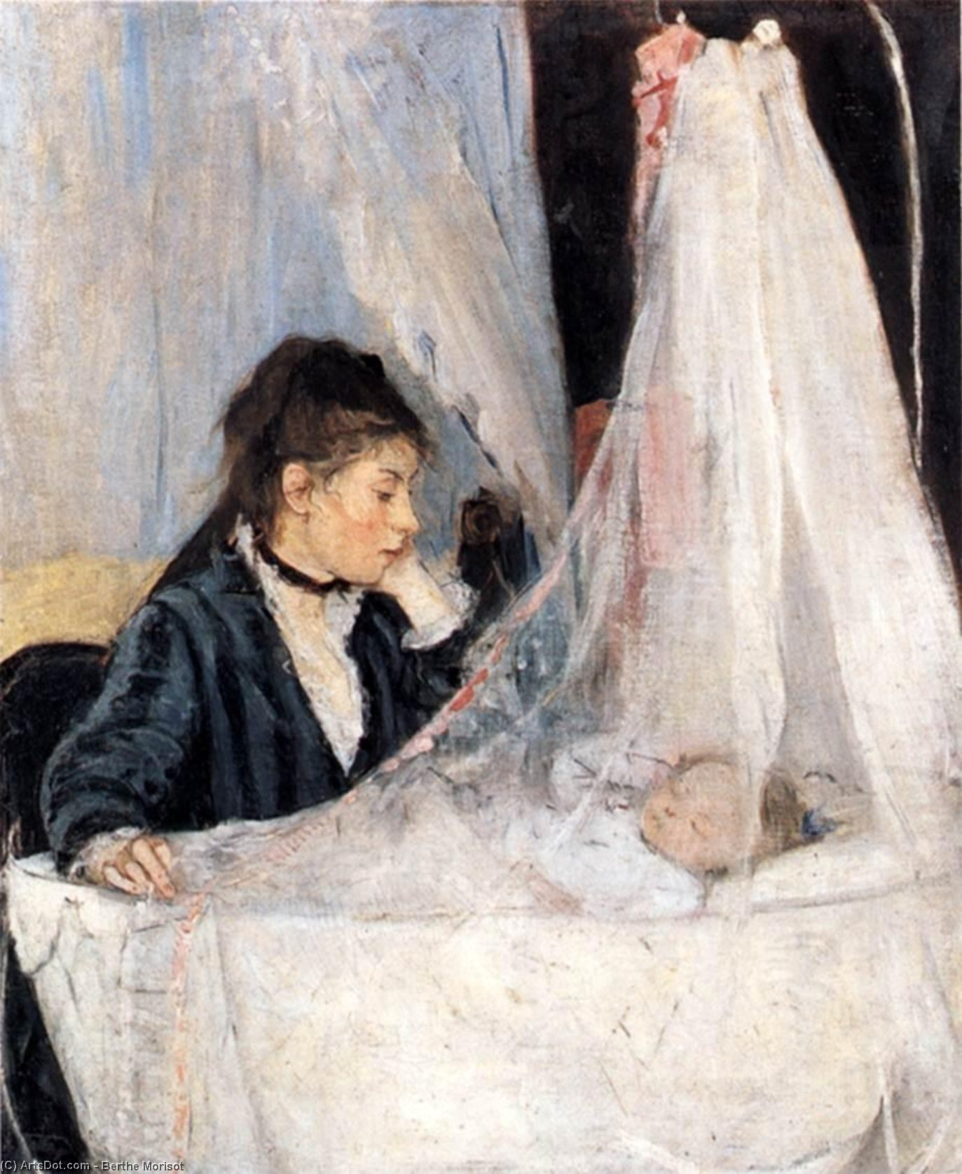 Wikioo.org - The Encyclopedia of Fine Arts - Painting, Artwork by Berthe Morisot - The Cradle