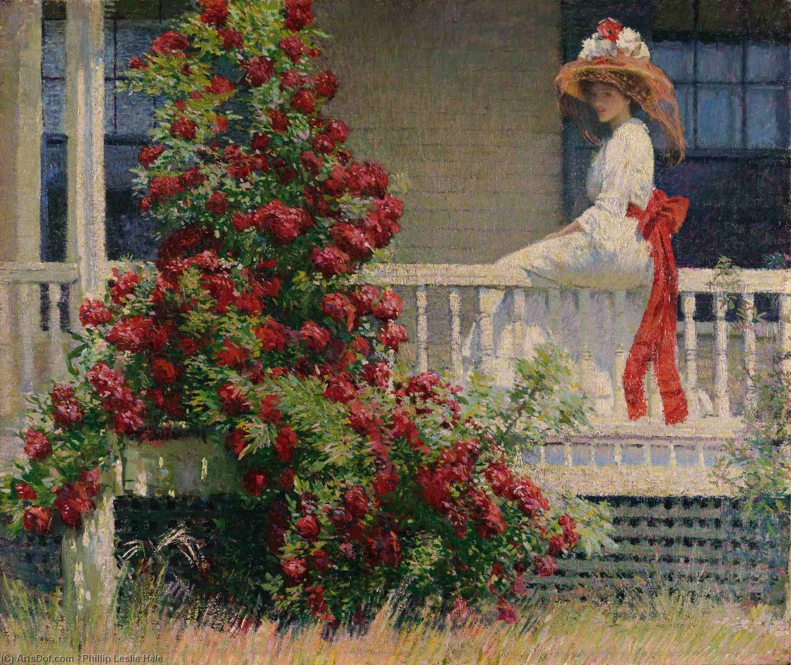 Wikioo.org - The Encyclopedia of Fine Arts - Painting, Artwork by Philip Leslie Hale - The Crimson Rambler