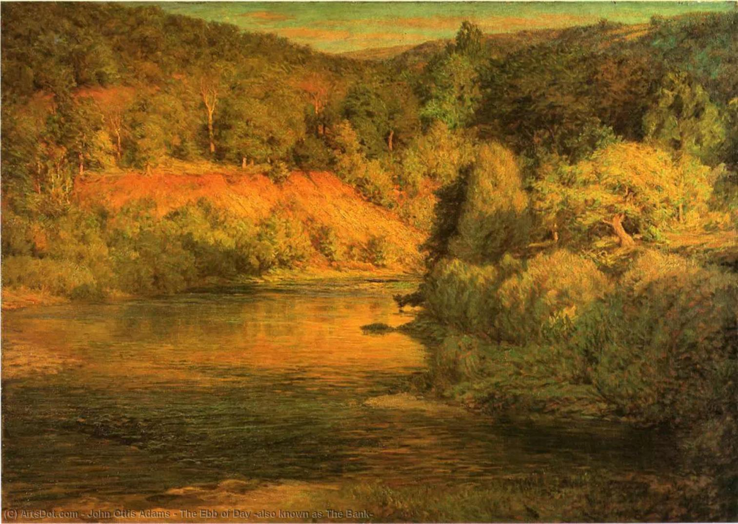 Wikioo.org - The Encyclopedia of Fine Arts - Painting, Artwork by John Ottis Adams - The Ebb of Day (also known as The Bank)
