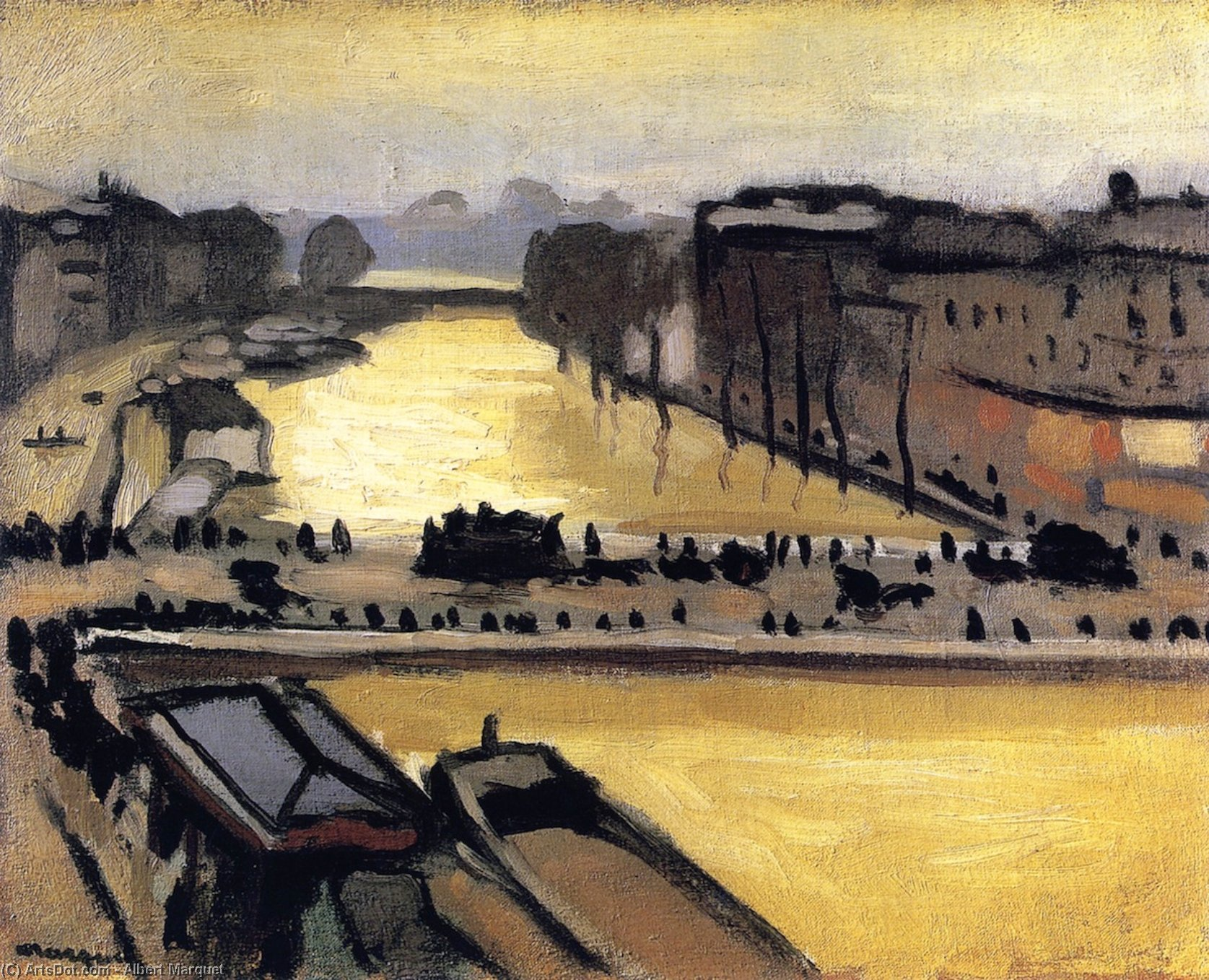 Wikioo.org - The Encyclopedia of Fine Arts - Painting, Artwork by Albert Marquet - Flood in Paris