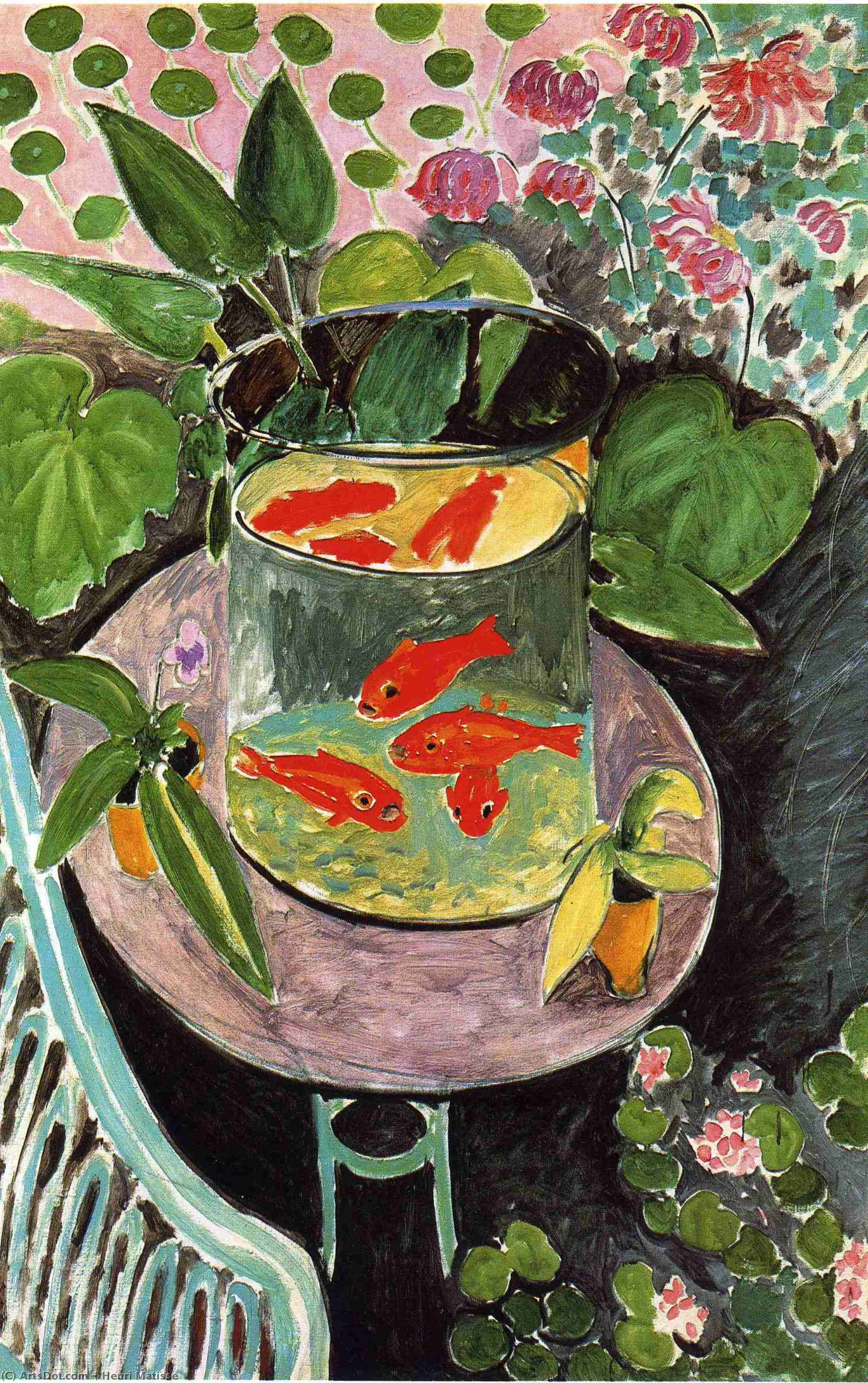Wikioo.org - The Encyclopedia of Fine Arts - Painting, Artwork by Henri Matisse - Goldfish