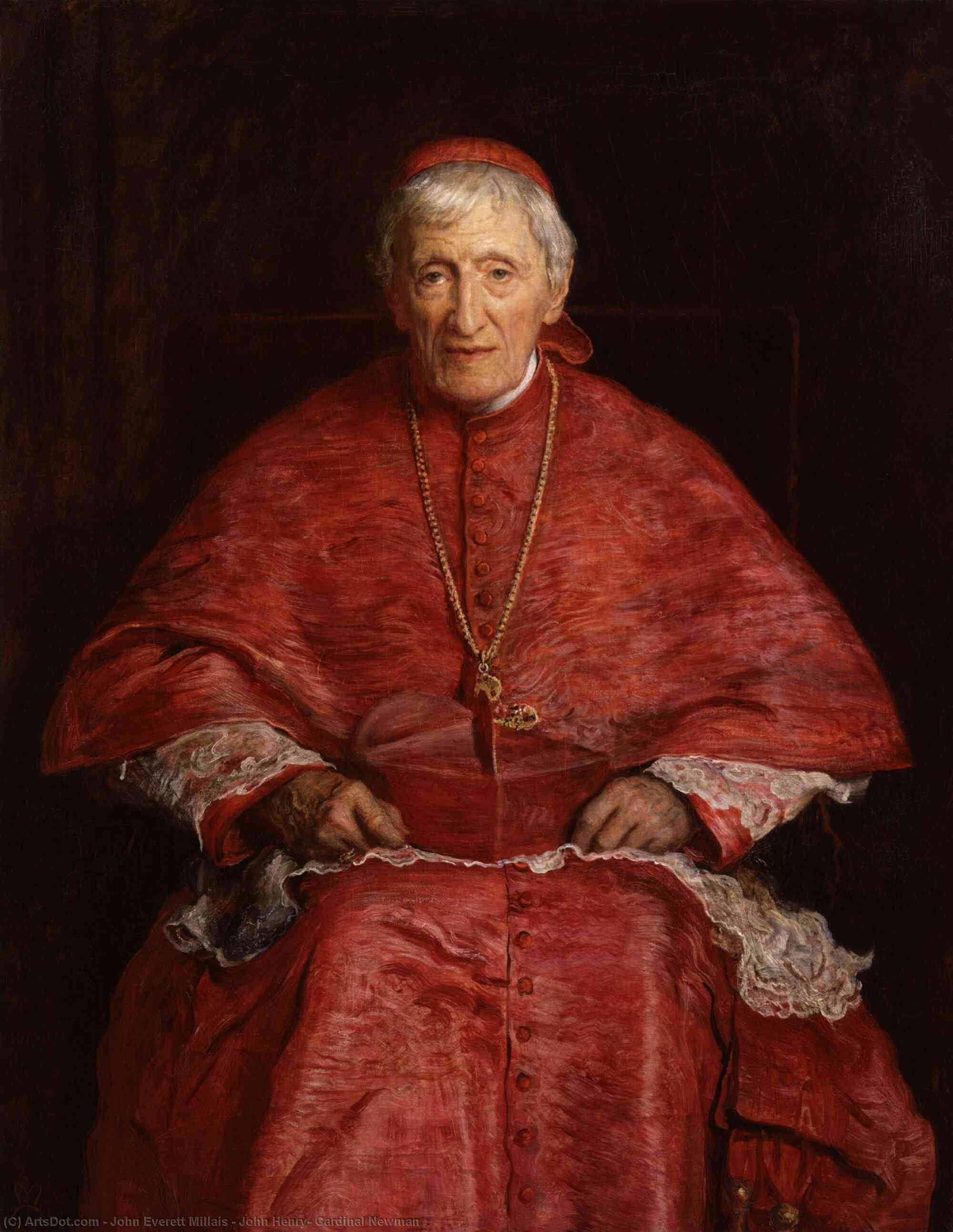Wikioo.org - The Encyclopedia of Fine Arts - Painting, Artwork by John Everett Millais - John Henry, Cardinal Newman