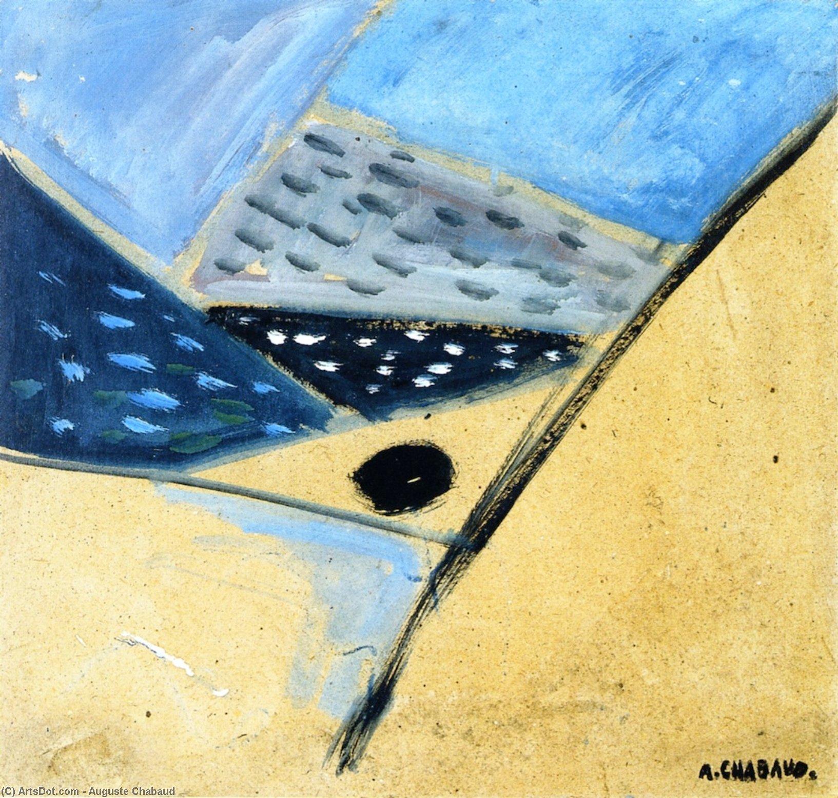 WikiOO.org - Güzel Sanatlar Ansiklopedisi - Resim, Resimler Auguste Chabaud - Landscape (abstract)