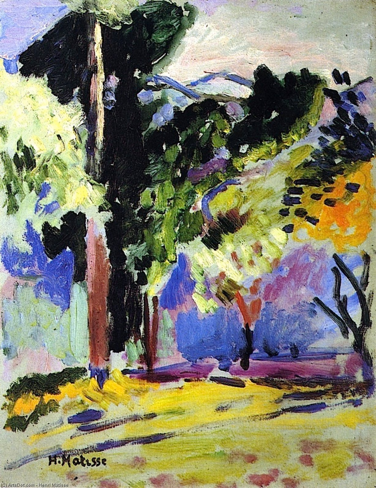 Landscape at Collioure   Henri Matisse   Wikioo.org   The ...