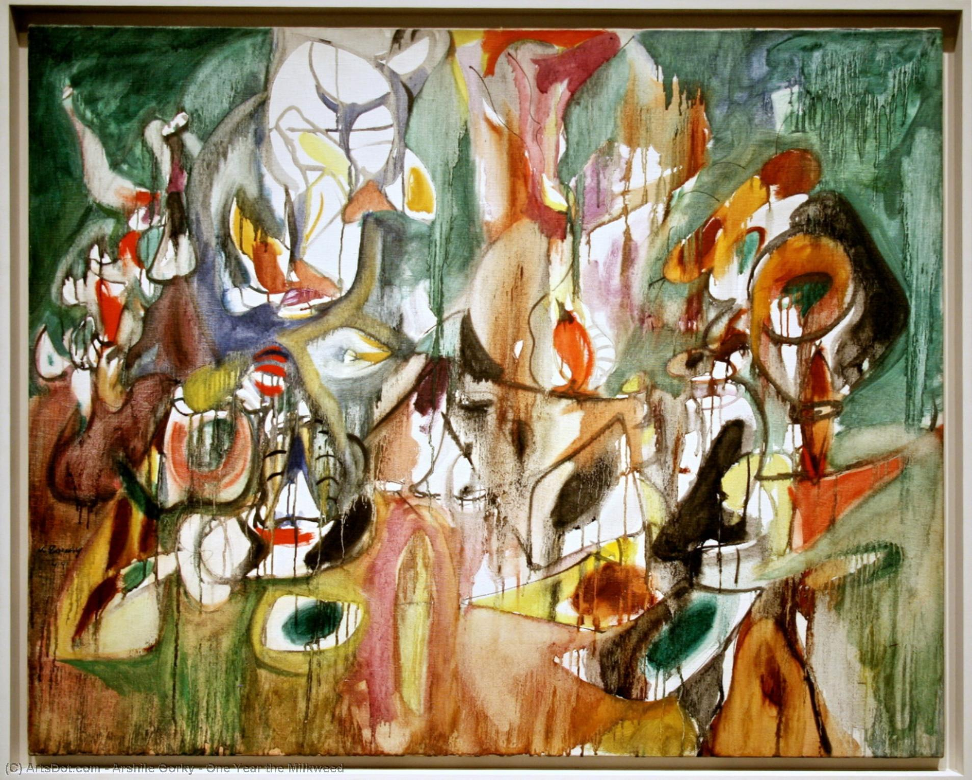 Wikioo.org - The Encyclopedia of Fine Arts - Painting, Artwork by Arshile Gorky - One Year the Milkweed