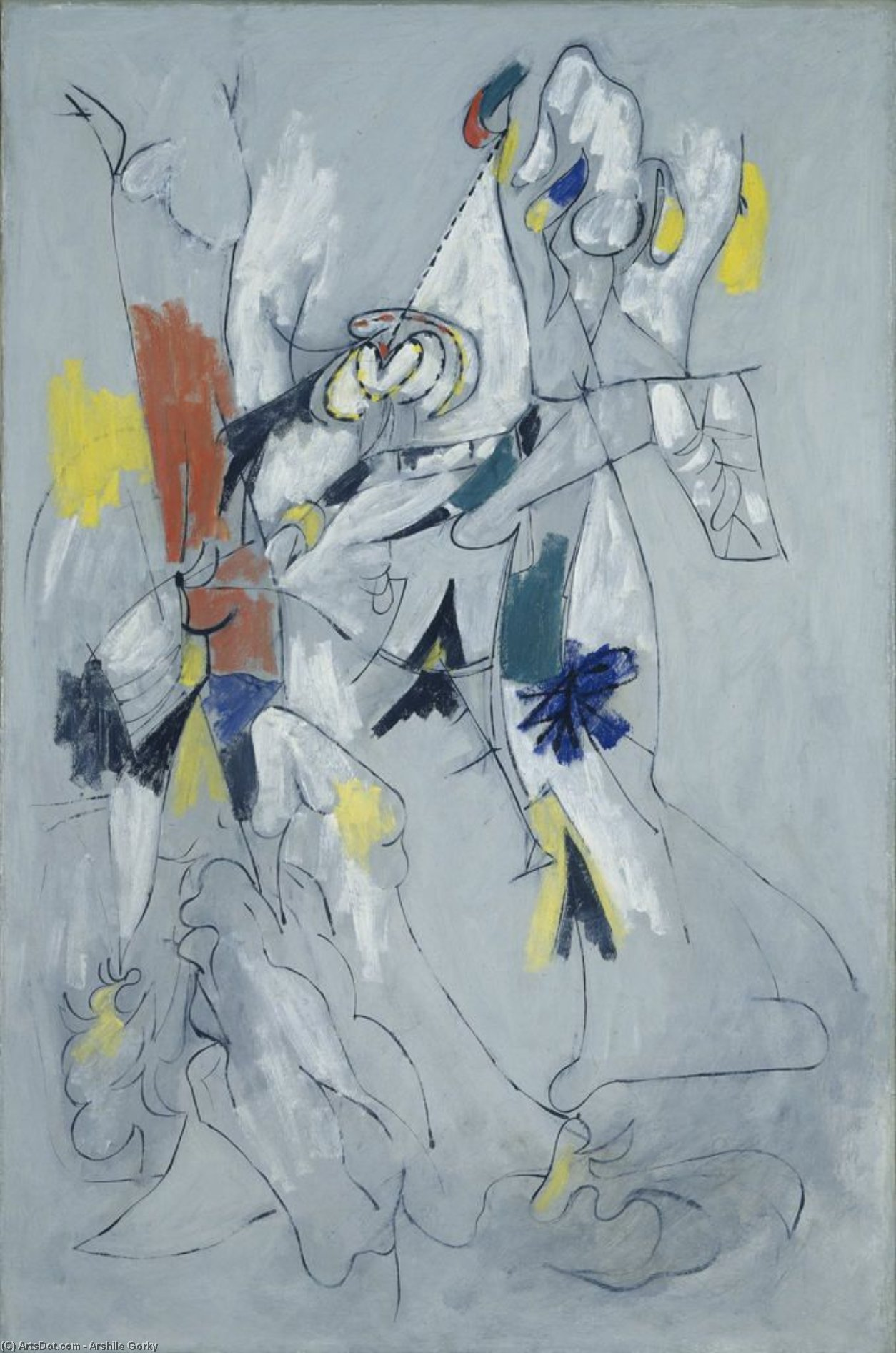 Wikioo.org - The Encyclopedia of Fine Arts - Painting, Artwork by Arshile Gorky - Waterfall