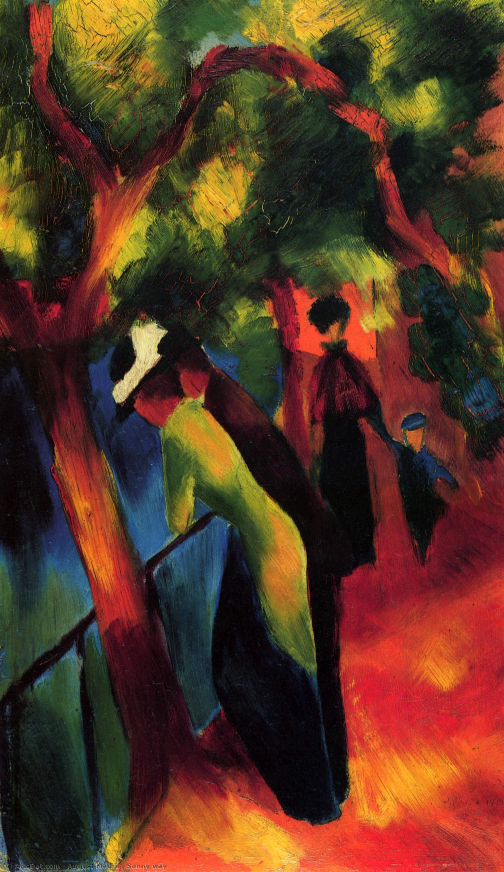 Wikioo.org - The Encyclopedia of Fine Arts - Painting, Artwork by August Macke - Sunny way