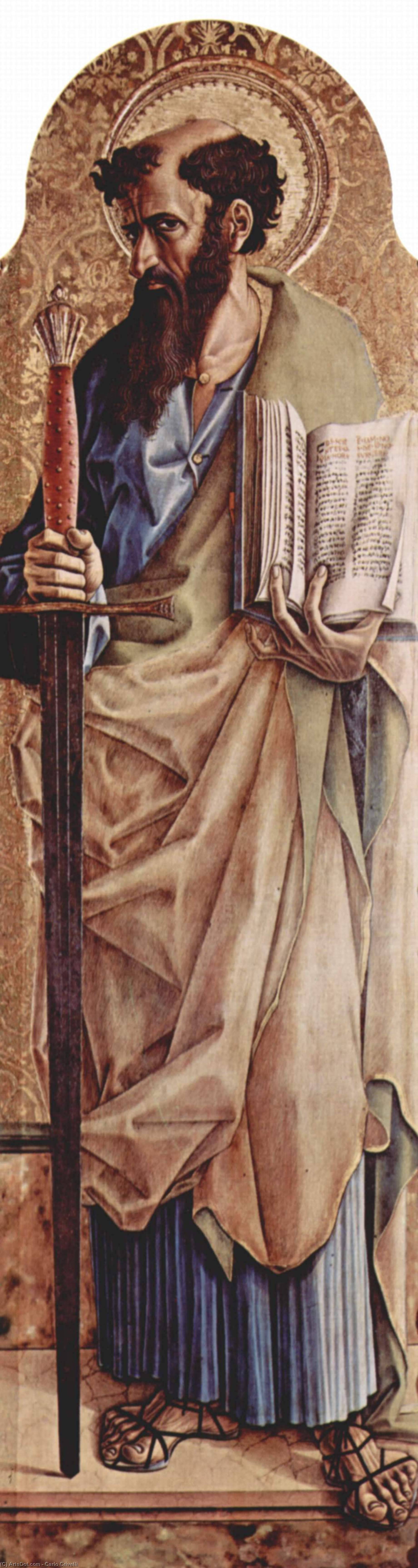 Wikioo.org - The Encyclopedia of Fine Arts - Painting, Artwork by Carlo Crivelli - Saint Paul