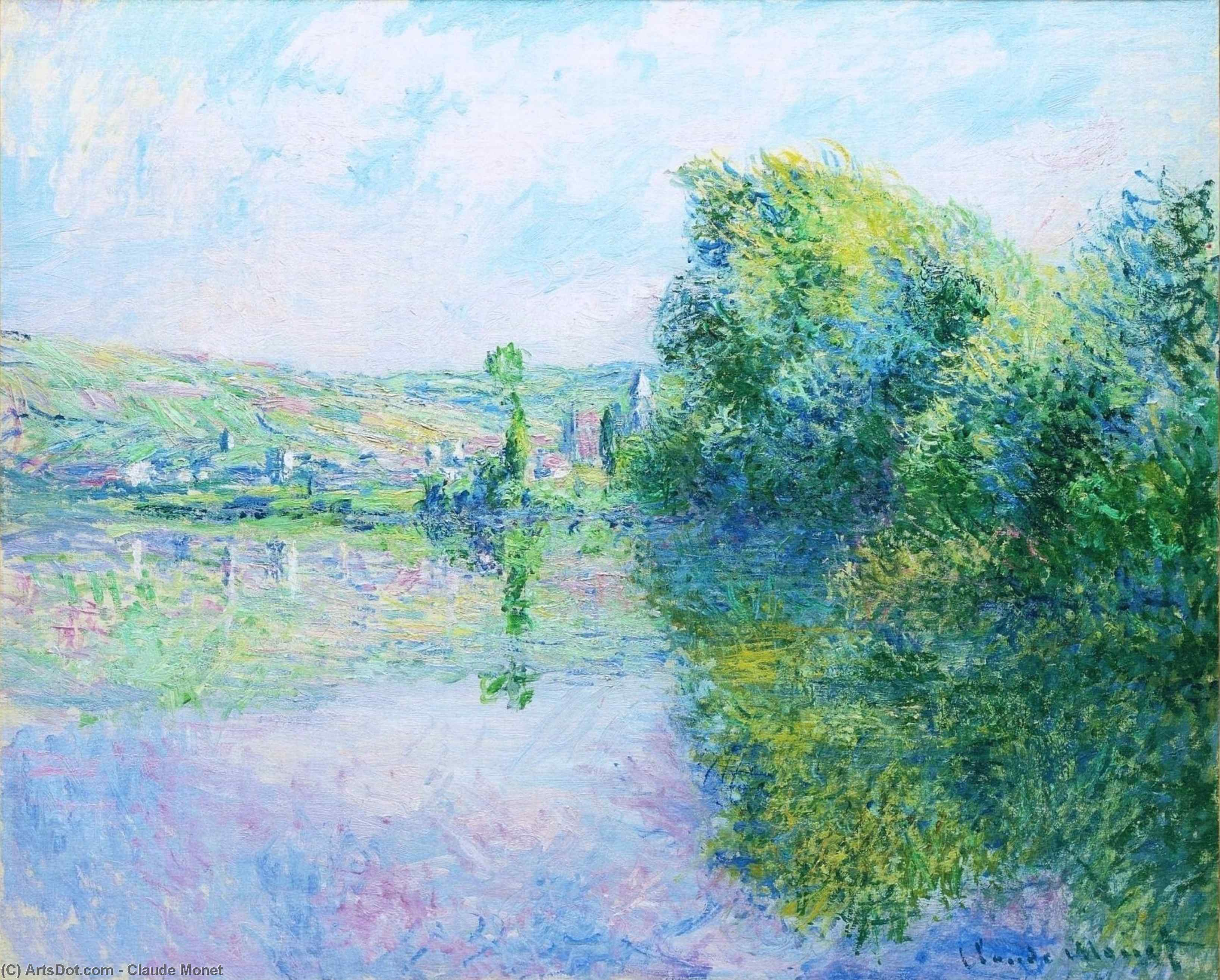 Wikioo.org - The Encyclopedia of Fine Arts - Painting, Artwork by Claude Monet - The Siene at Vetheuil