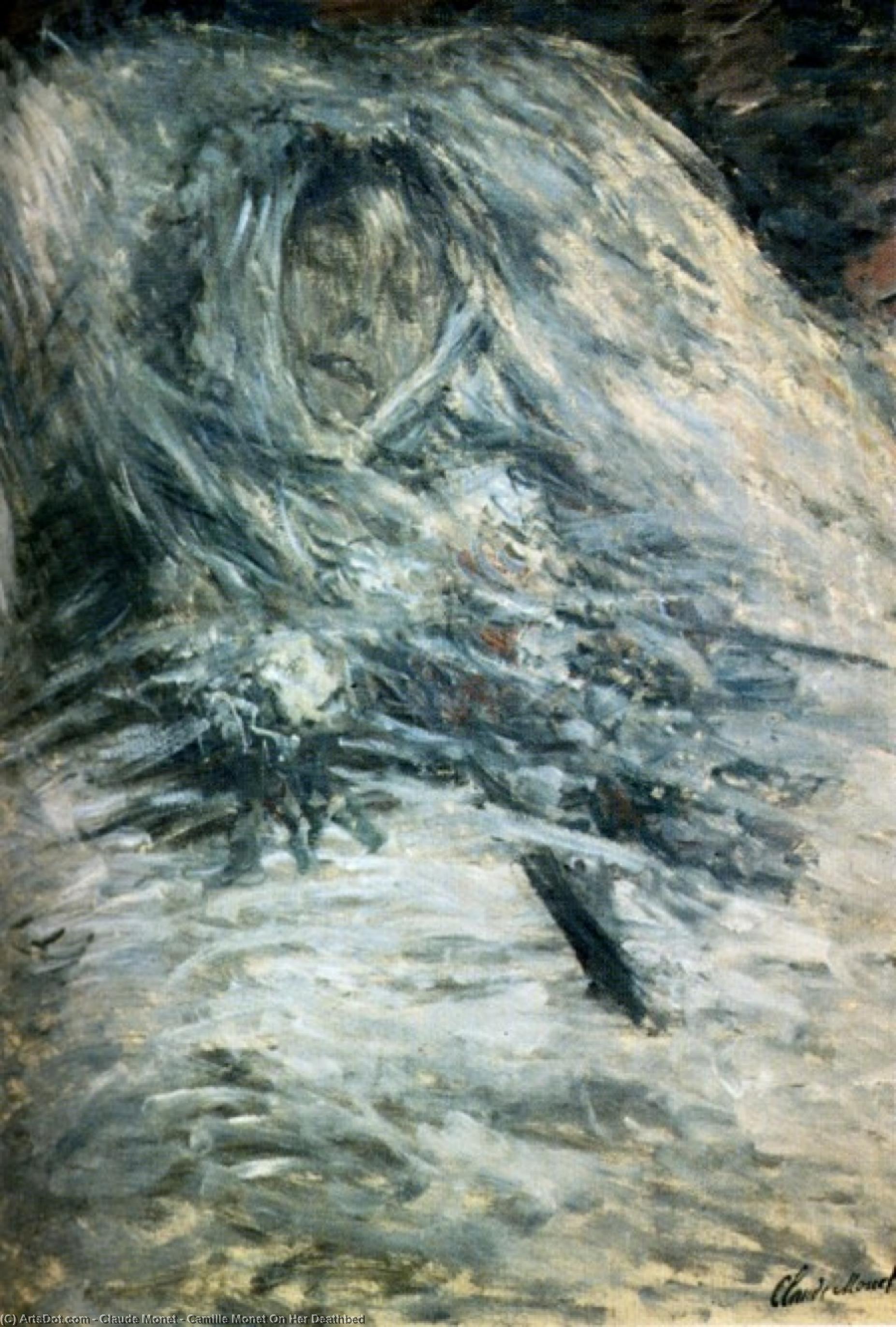 Camille Monet On Her Deathbed - Claude Monet
