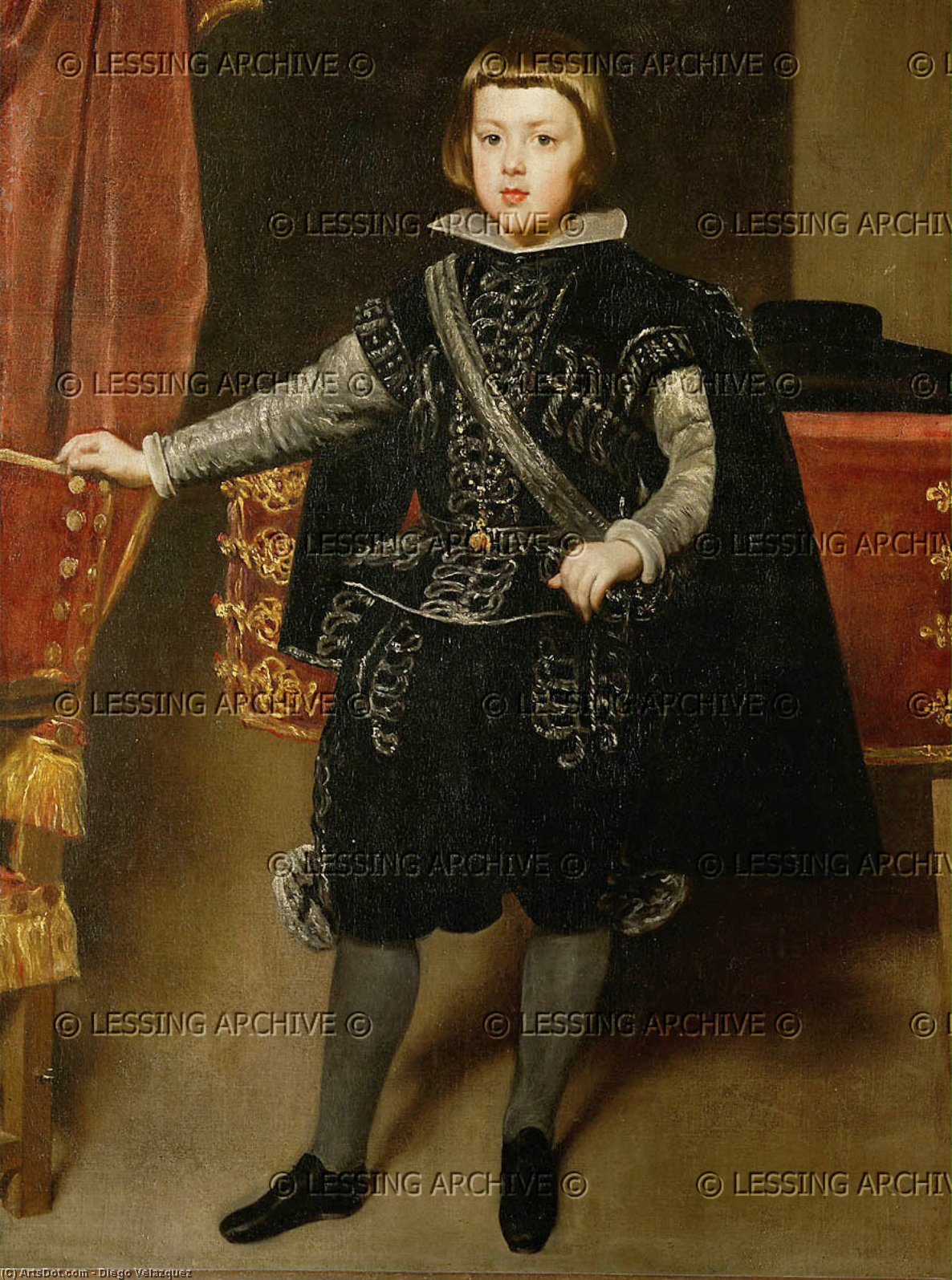Wikioo.org - The Encyclopedia of Fine Arts - Painting, Artwork by Diego Velazquez - Prince Balthasar Carlos