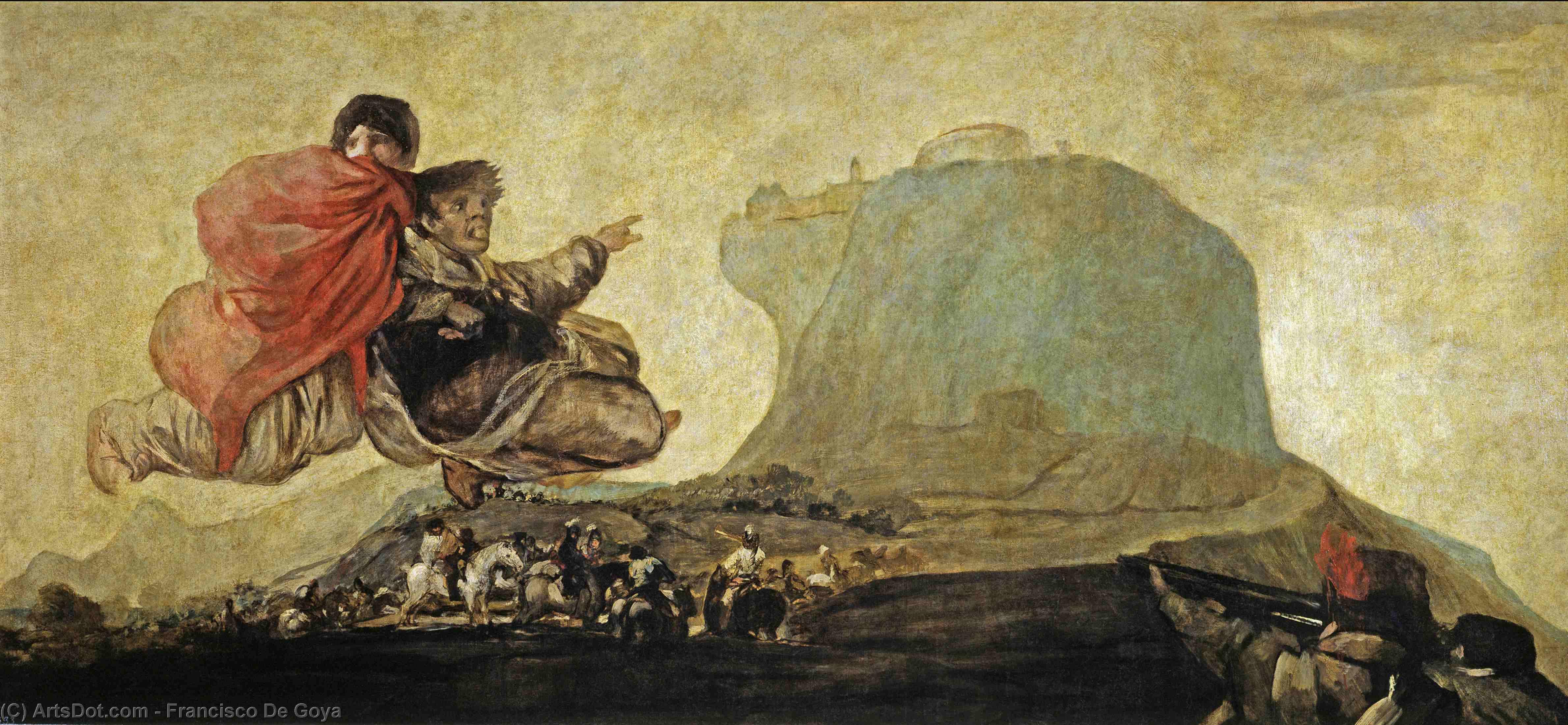 Wikioo.org - The Encyclopedia of Fine Arts - Painting, Artwork by Francisco De Goya - Asmodea