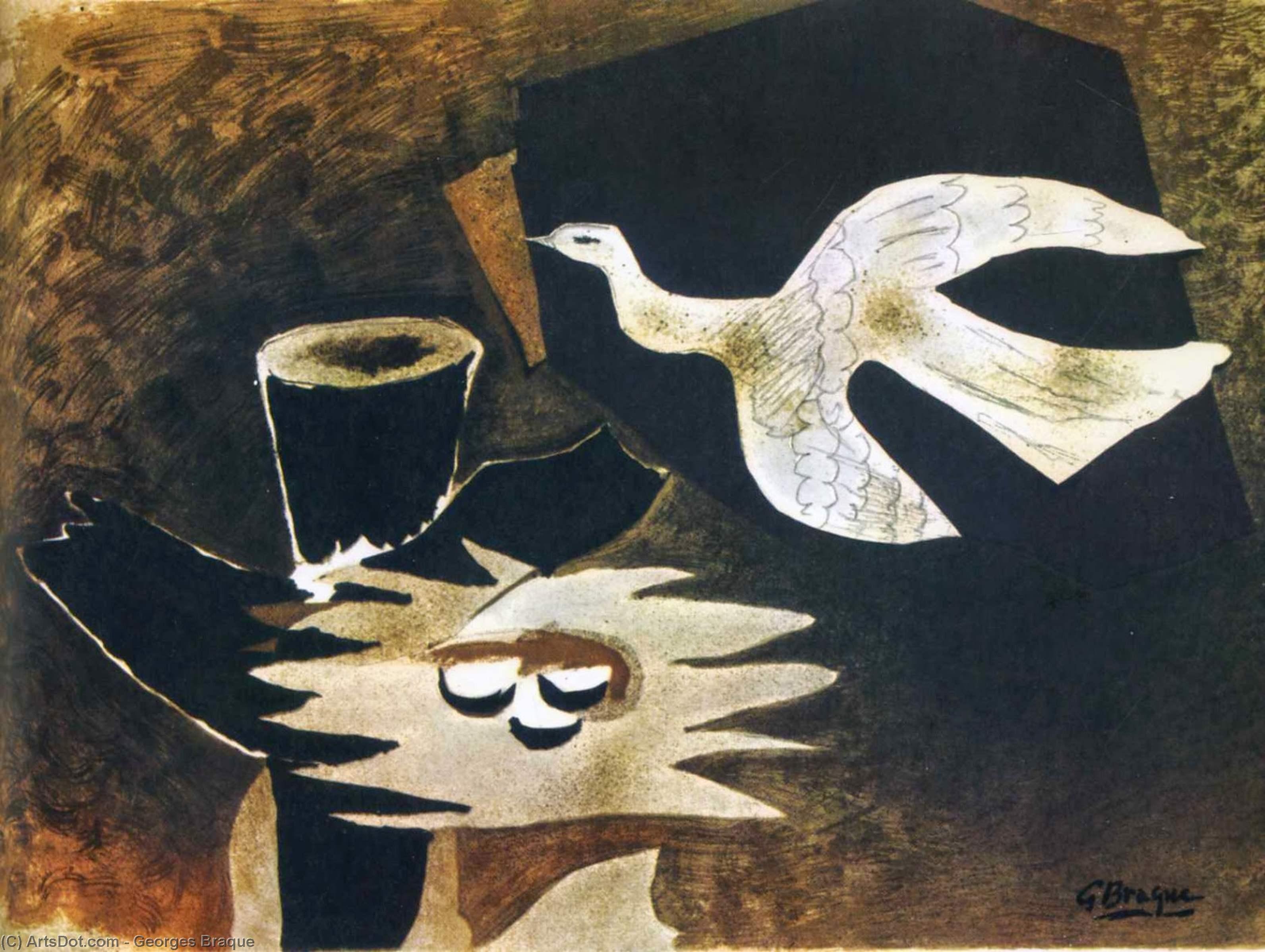 Wikioo.org - Bách khoa toàn thư về mỹ thuật - Vẽ tranh, Tác phẩm nghệ thuật Georges Braque - Bird Returning to it's Nest