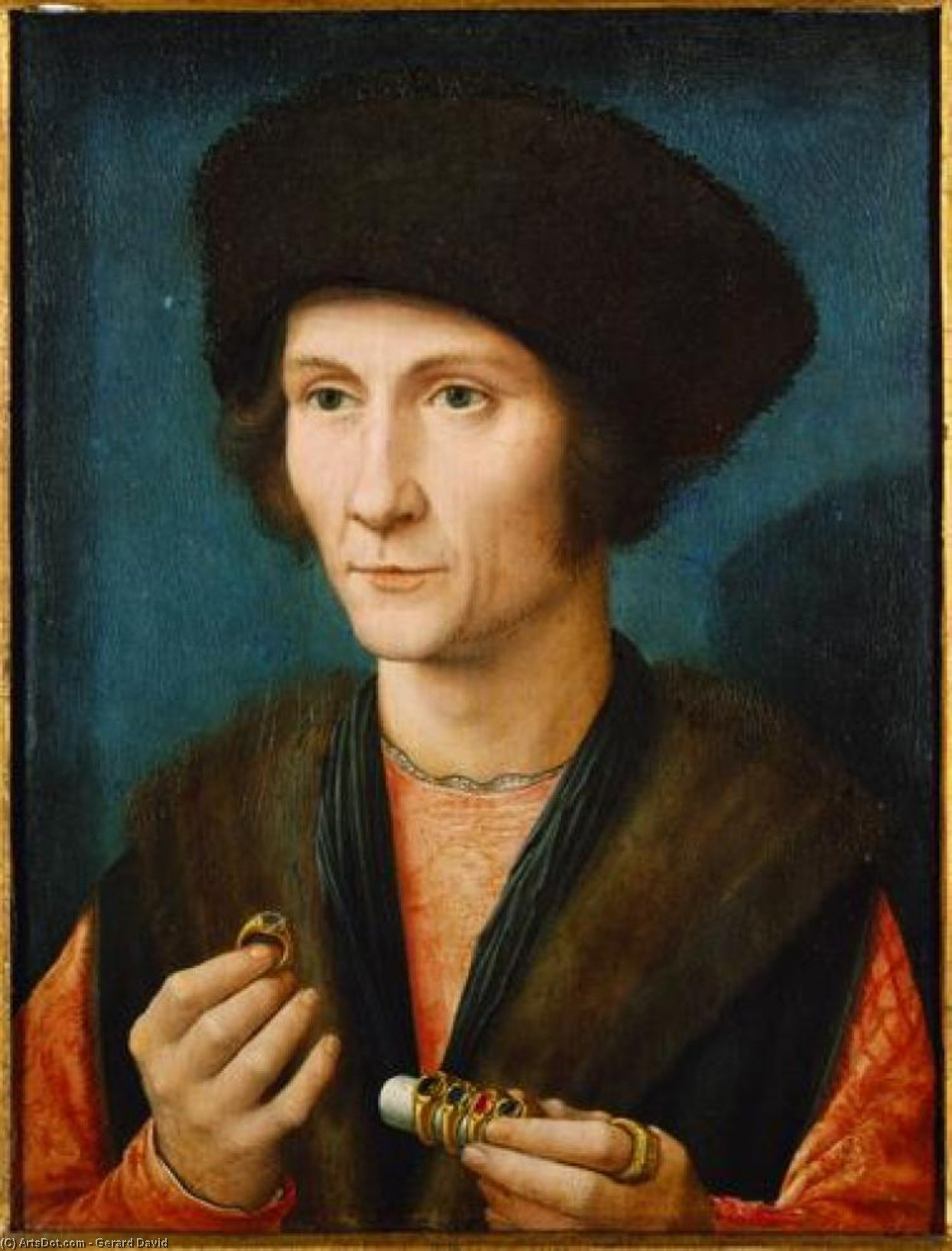 Wikioo.org - The Encyclopedia of Fine Arts - Painting, Artwork by Gerard David - Portrait of a Goldsmith