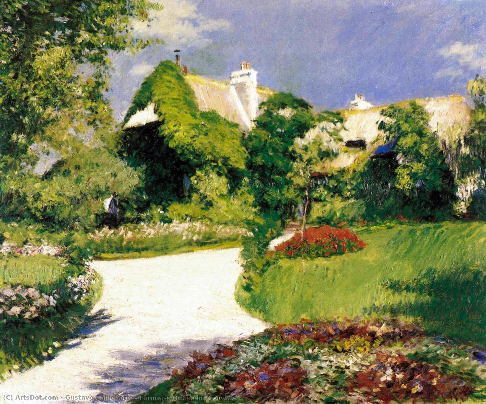 Wikioo.org - สารานุกรมวิจิตรศิลป์ - จิตรกรรม Gustave Caillebotte - Farmer's House in Trouville