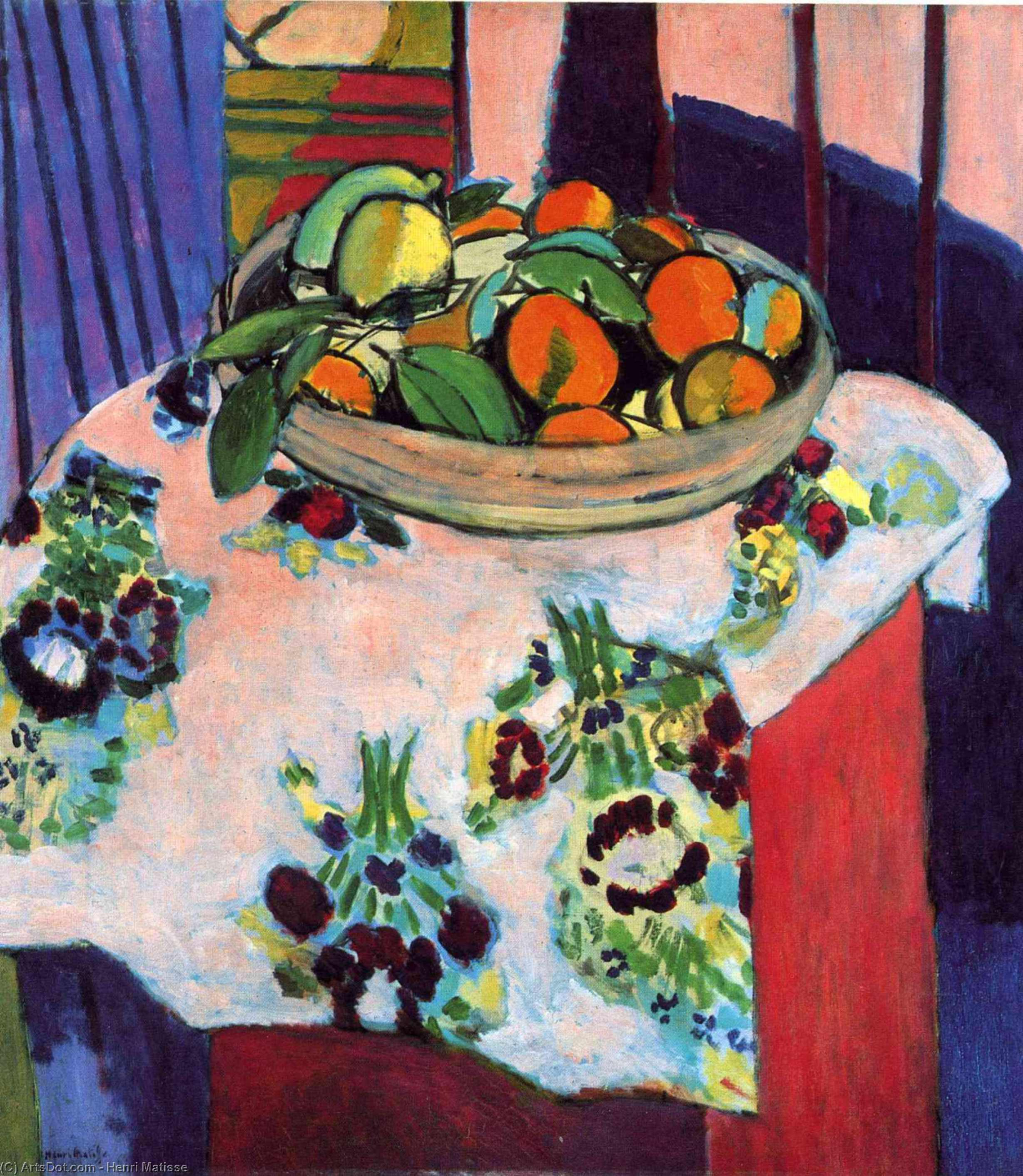 Wikioo.org - The Encyclopedia of Fine Arts - Painting, Artwork by Henri Matisse - Basket with Oranges