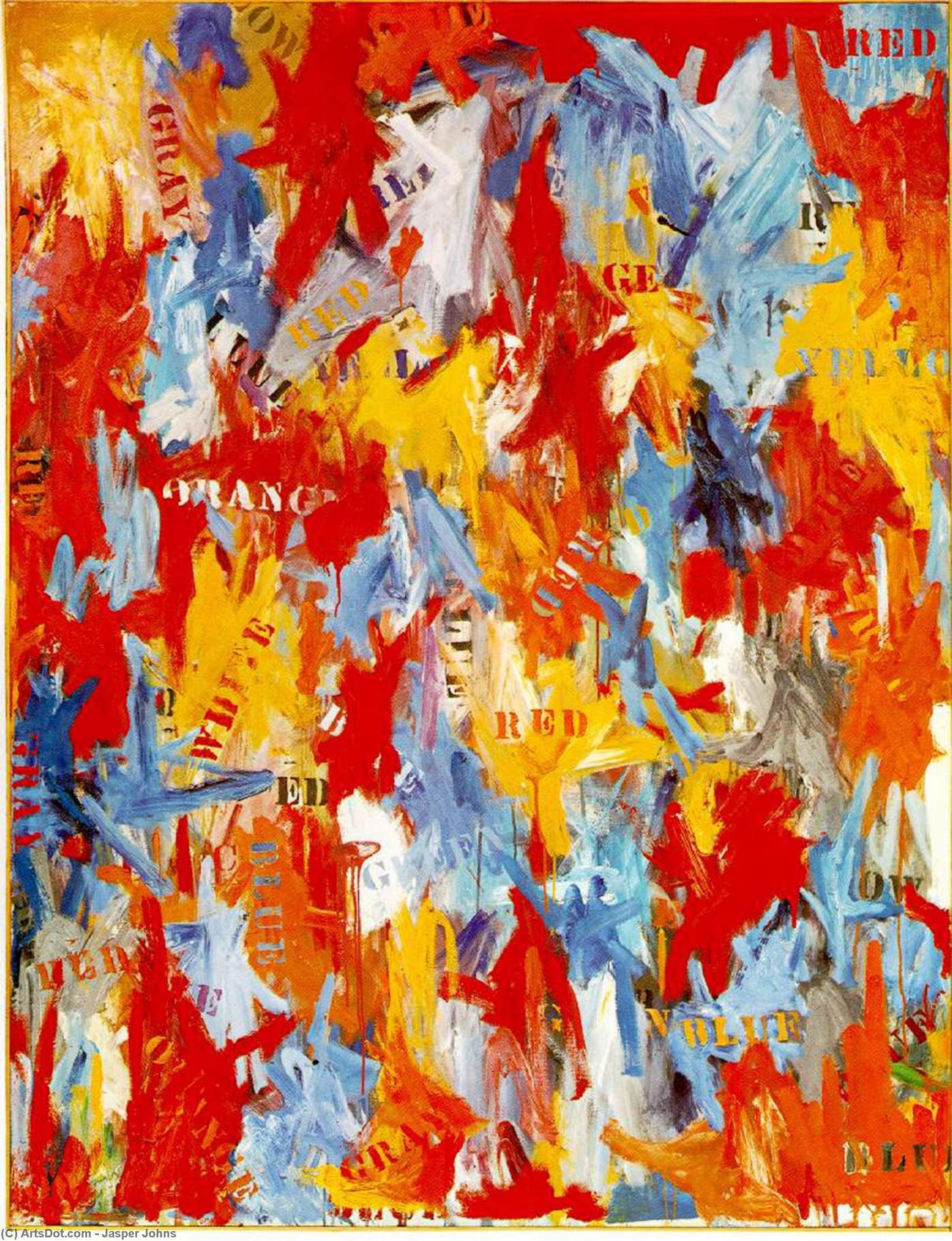 Wikioo.org - The Encyclopedia of Fine Arts - Painting, Artwork by Jasper Johns - False Start