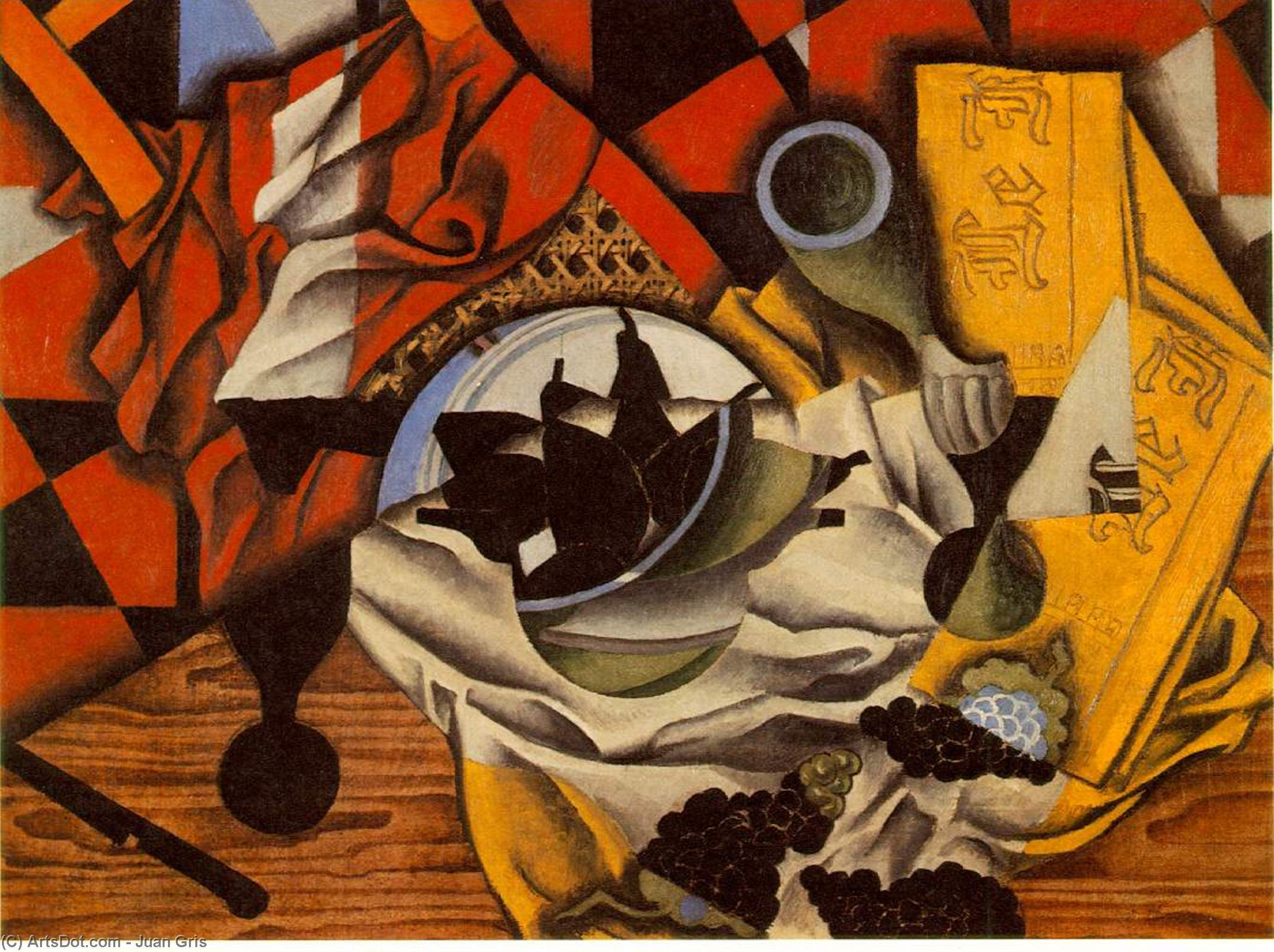 Pears and grapes on a table - Juan Gris