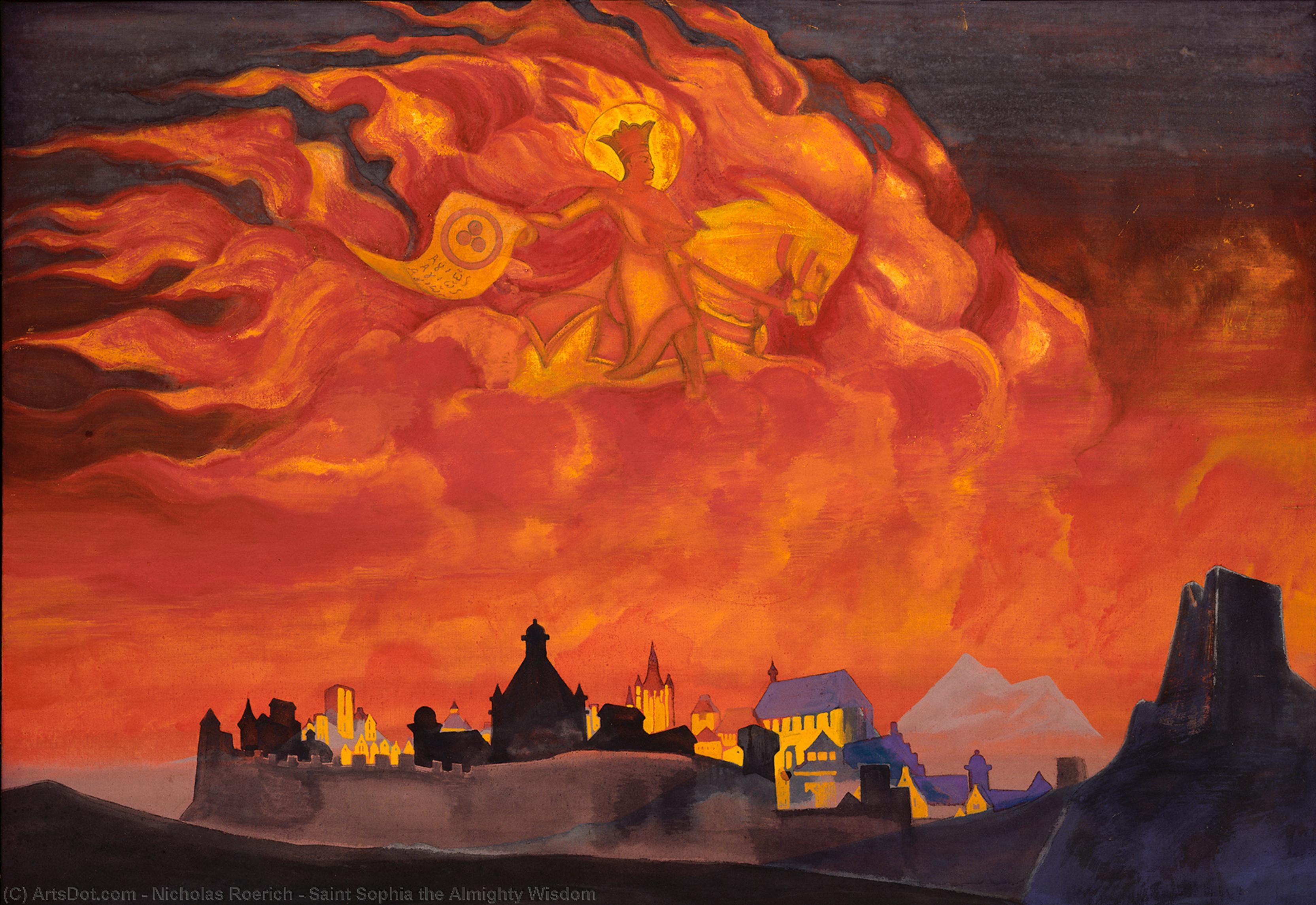 Wikoo.org - موسوعة الفنون الجميلة - اللوحة، العمل الفني Nicholas Roerich - Saint Sophia the Almighty Wisdom