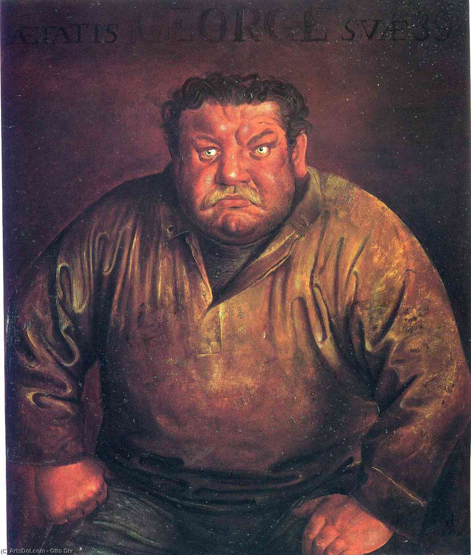 Wikioo.org - The Encyclopedia of Fine Arts - Painting, Artwork by Otto Dix - Portrait of Heinrich George