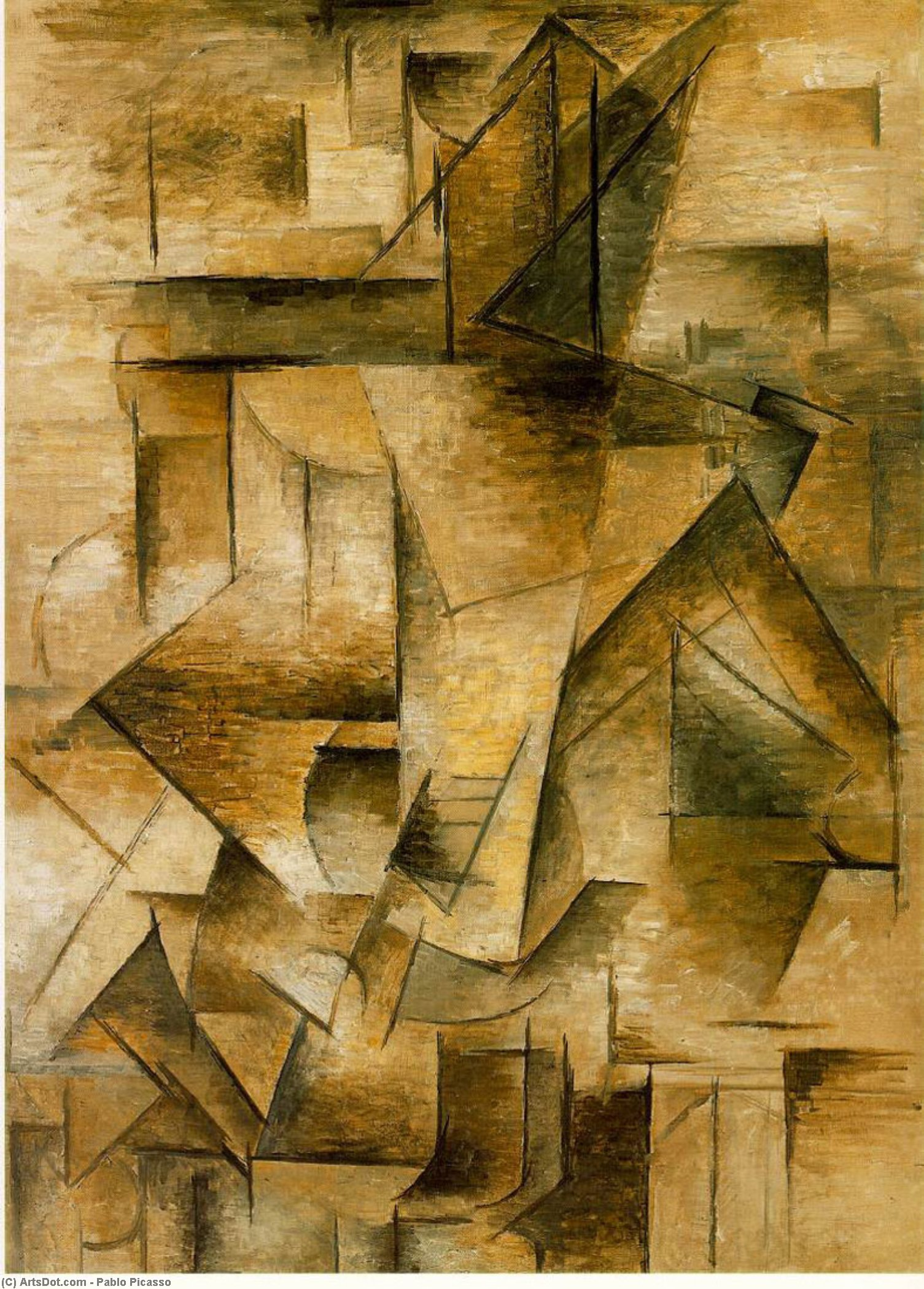 Wikioo.org - The Encyclopedia of Fine Arts - Painting, Artwork by Pablo Picasso - Guitar player