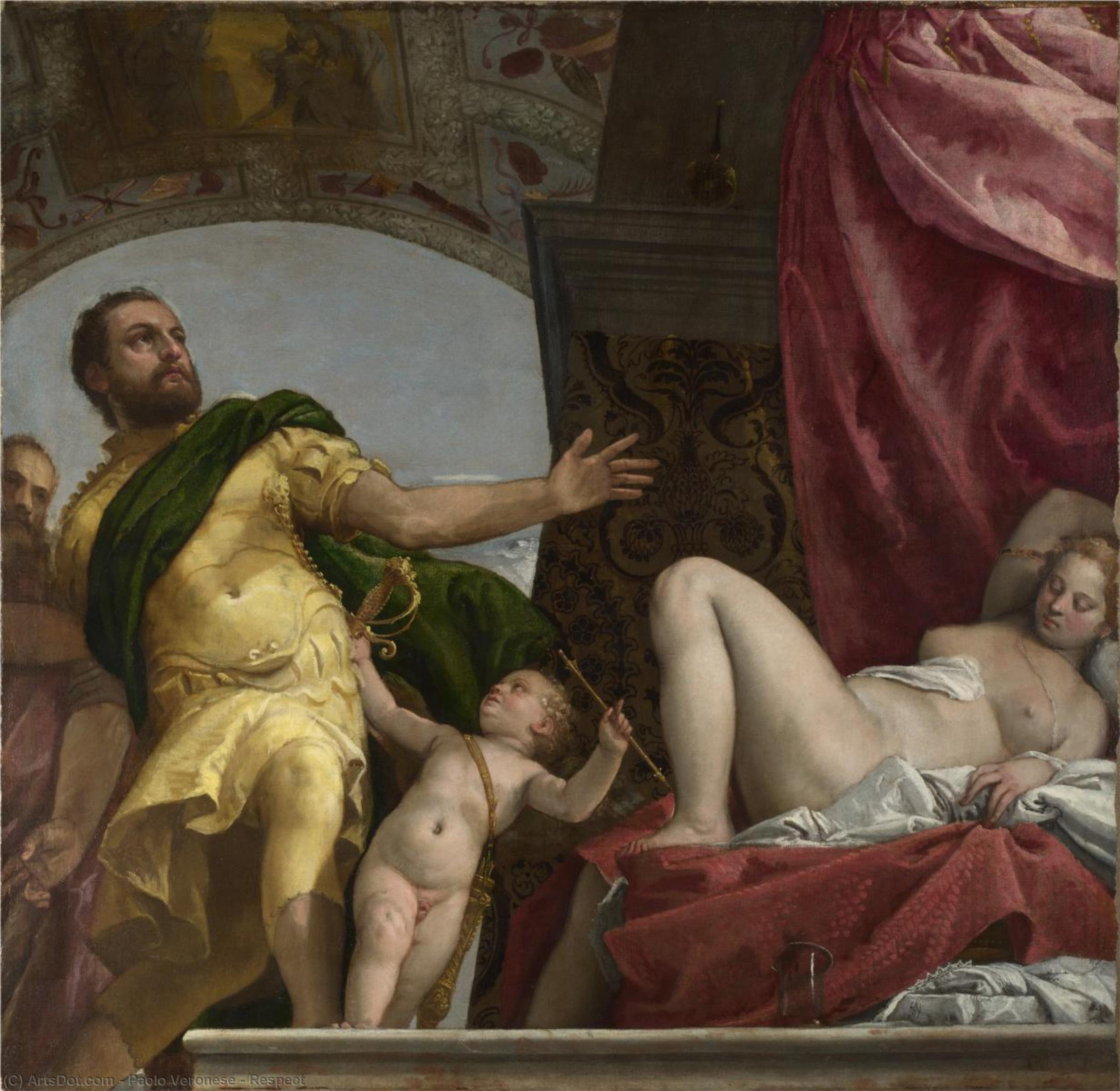 Wikioo.org - The Encyclopedia of Fine Arts - Painting, Artwork by Paolo Veronese - Respect