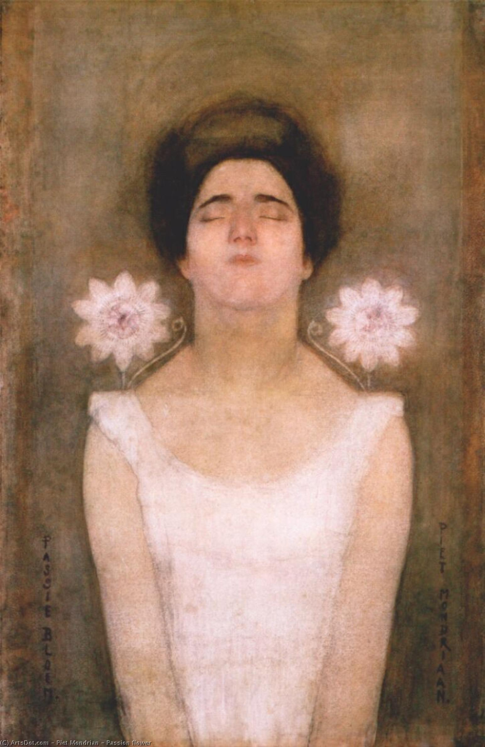 Wikioo.org - The Encyclopedia of Fine Arts - Painting, Artwork by Piet Mondrian - Passion flower
