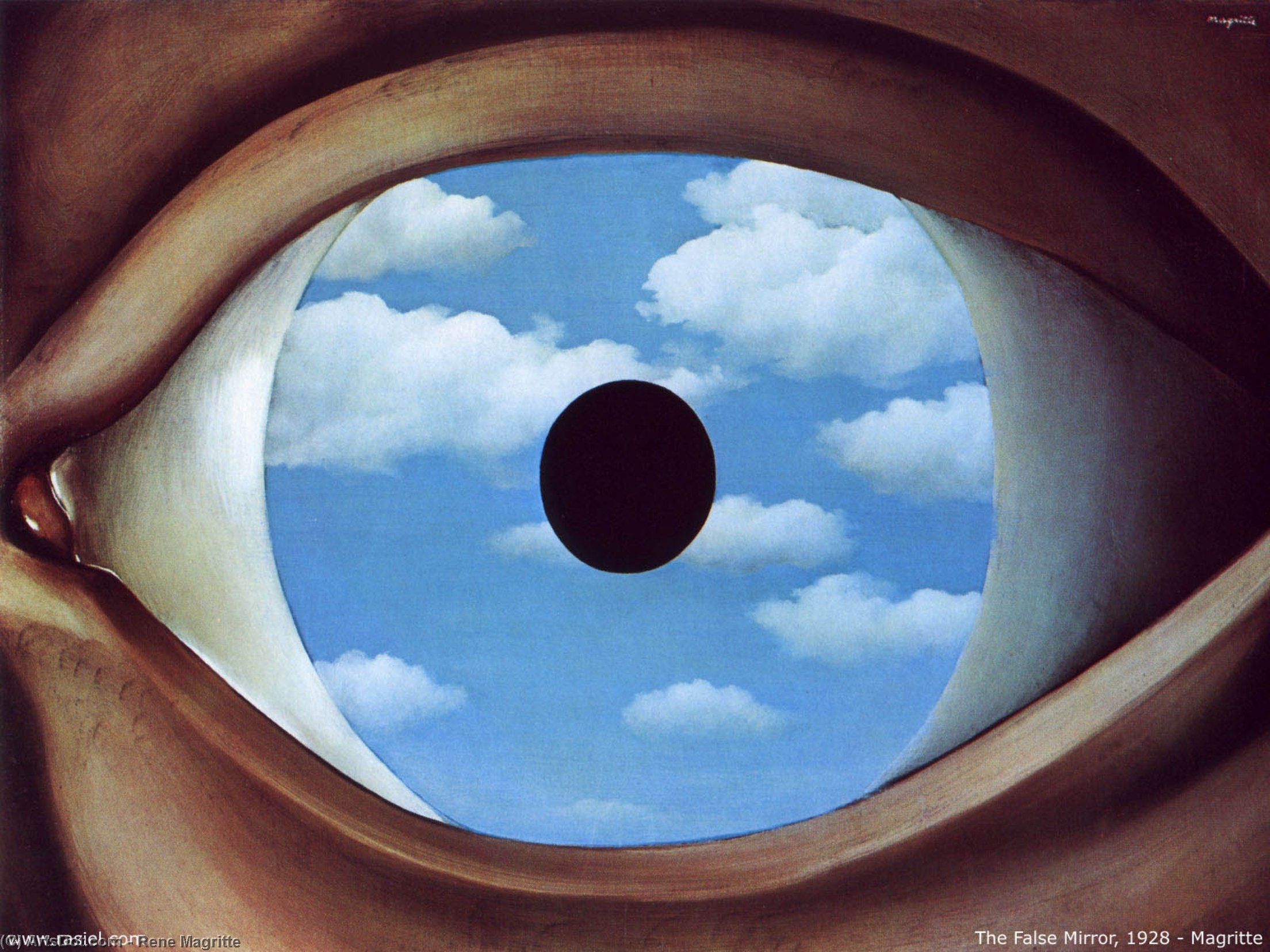 Wikioo.org - The Encyclopedia of Fine Arts - Painting, Artwork by Rene Magritte - The false mirror