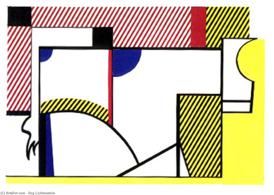 Wikioo.org - The Encyclopedia of Fine Arts - Painting, Artwork by Roy Lichtenstein - Bull VI