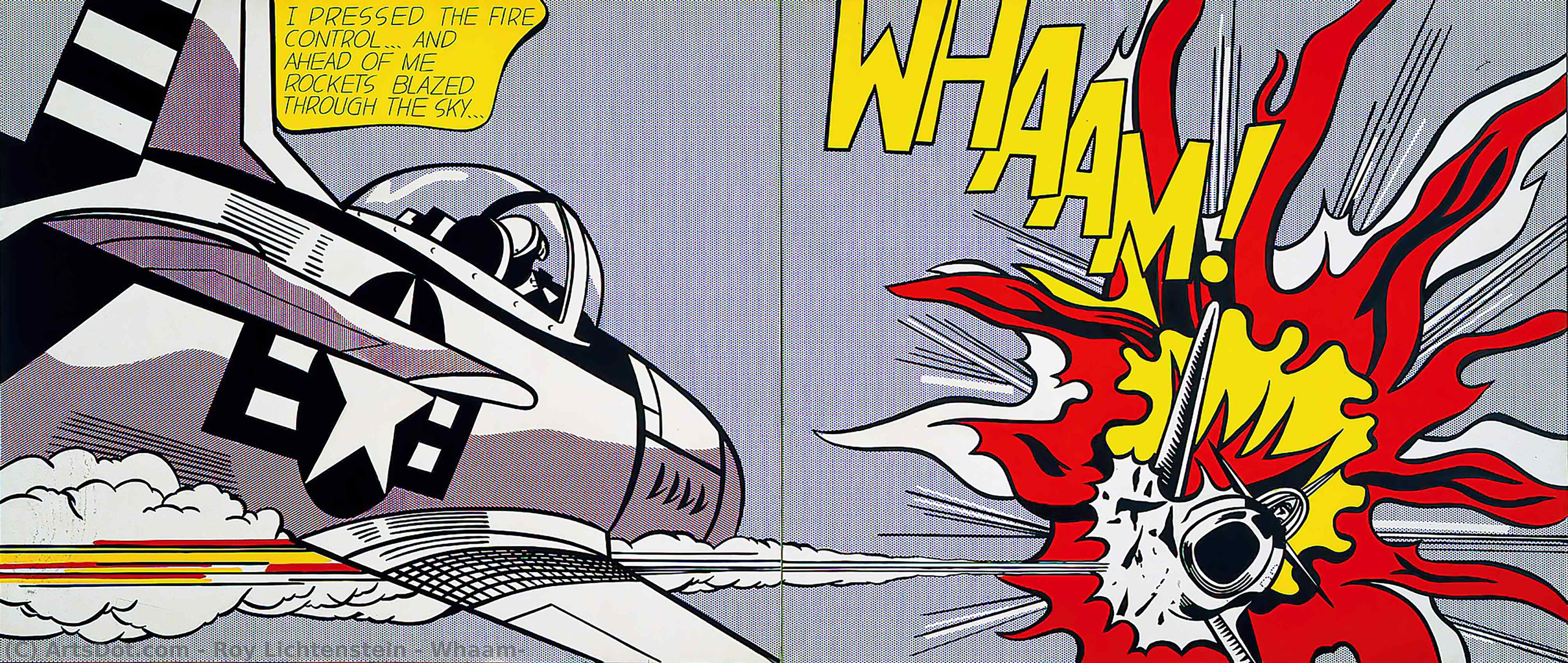 Wikioo.org - The Encyclopedia of Fine Arts - Painting, Artwork by Roy Lichtenstein - Whaam!