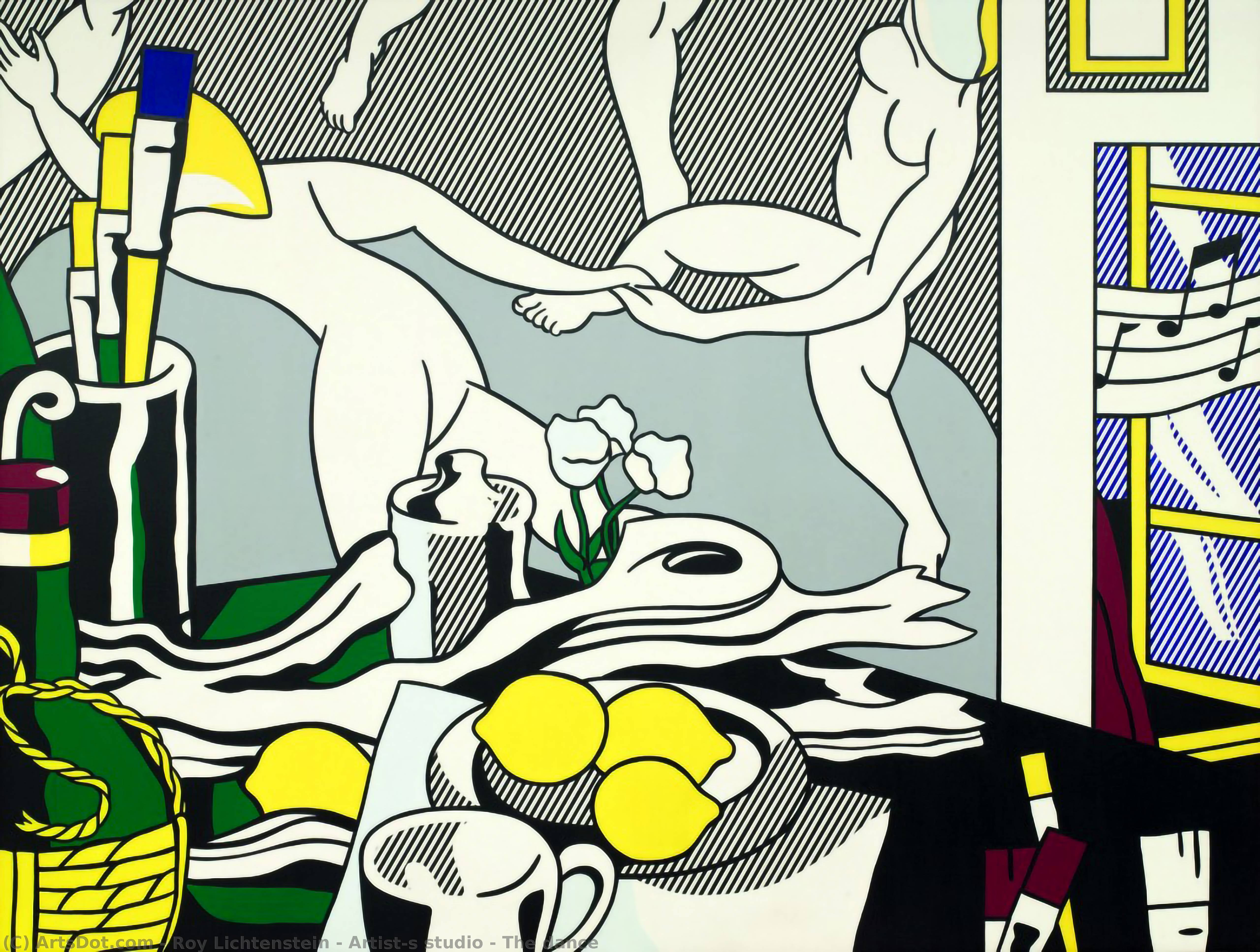 Wikioo.org - The Encyclopedia of Fine Arts - Painting, Artwork by Roy Lichtenstein - Artist's studio - The dance