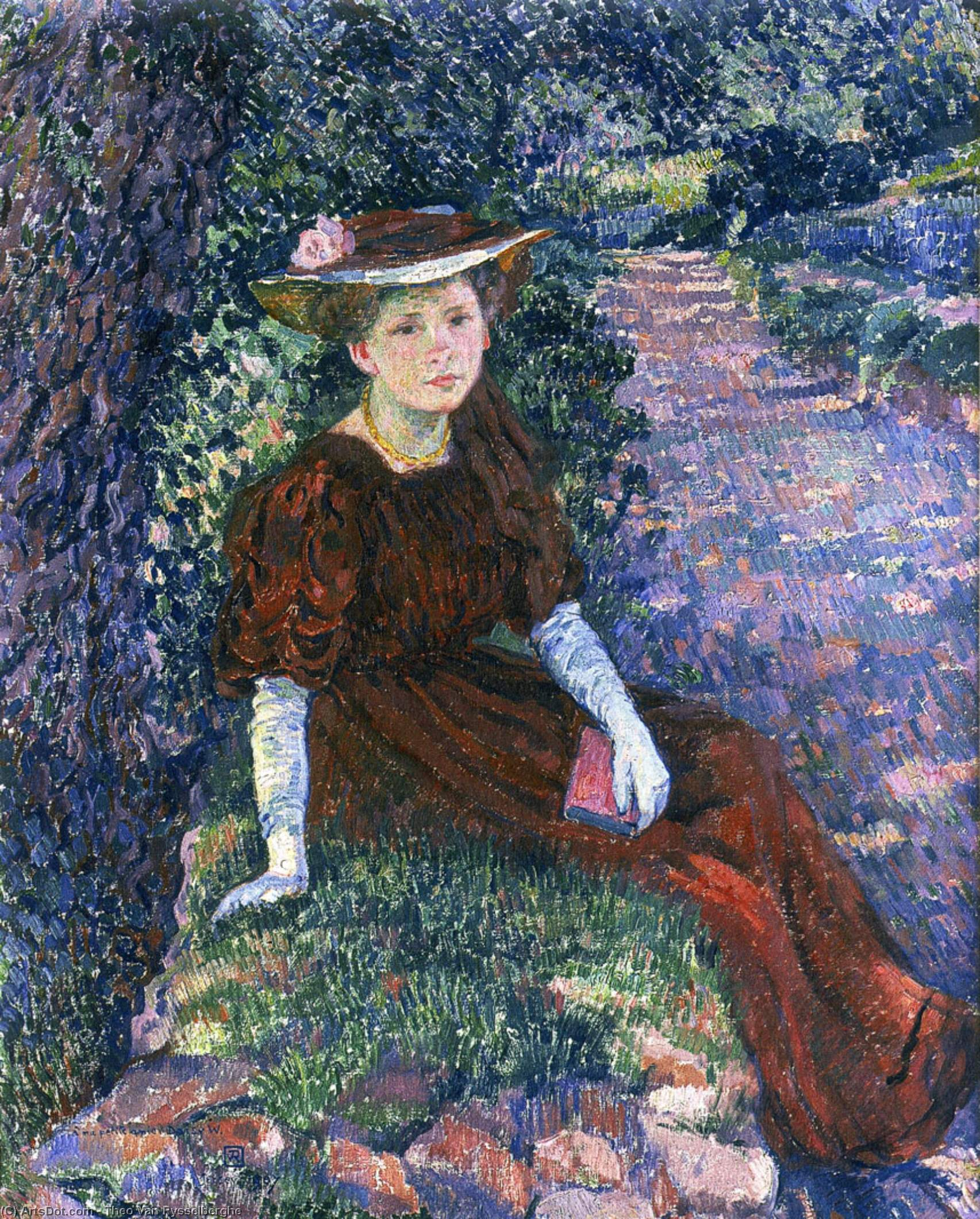 WikiOO.org - Encyclopedia of Fine Arts - Målning, konstverk Theo Van Rysselberghe - Portrait of Daisy Weber