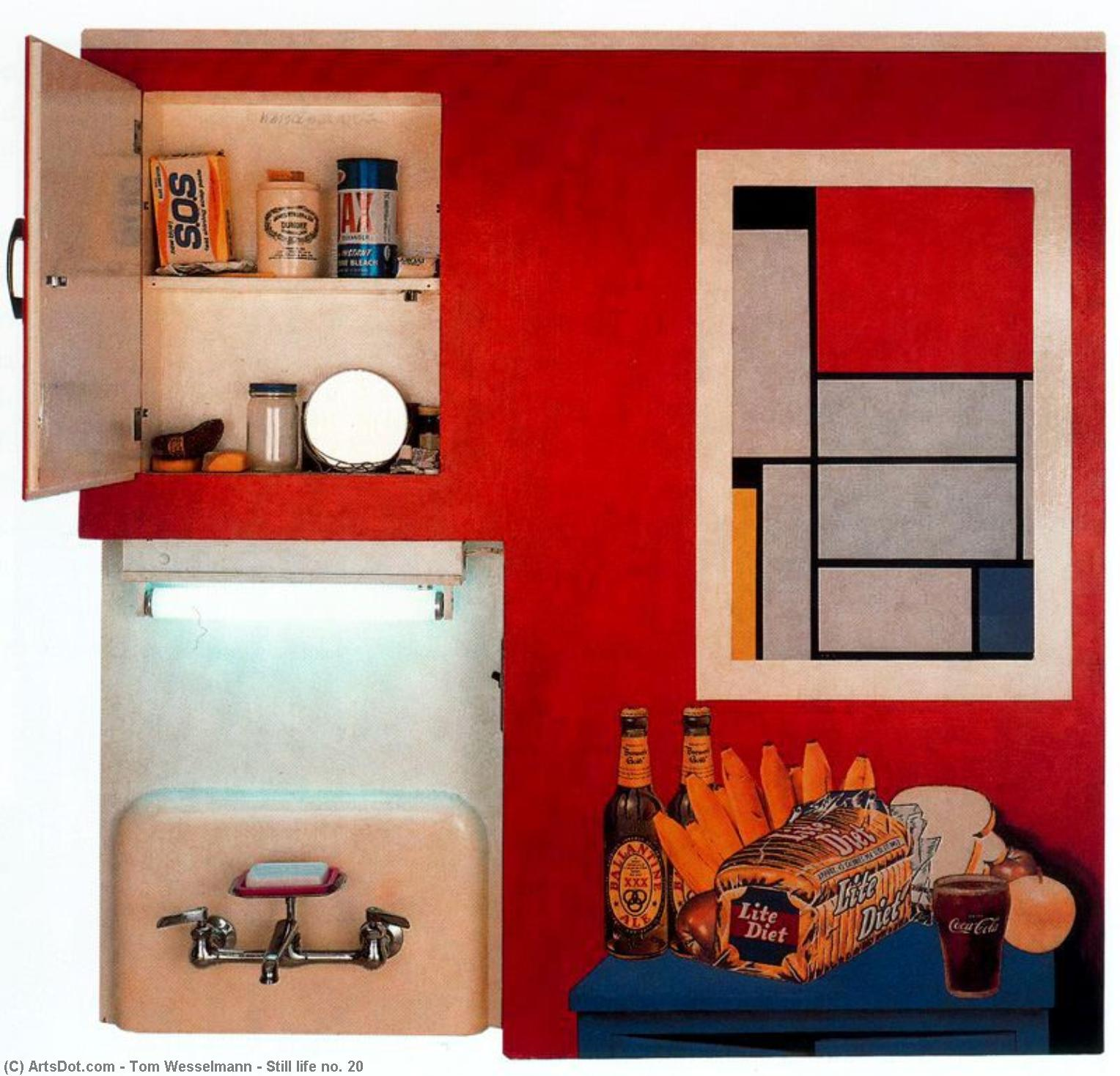 Wikioo.org - The Encyclopedia of Fine Arts - Painting, Artwork by Tom Wesselmann - Still life no. 20
