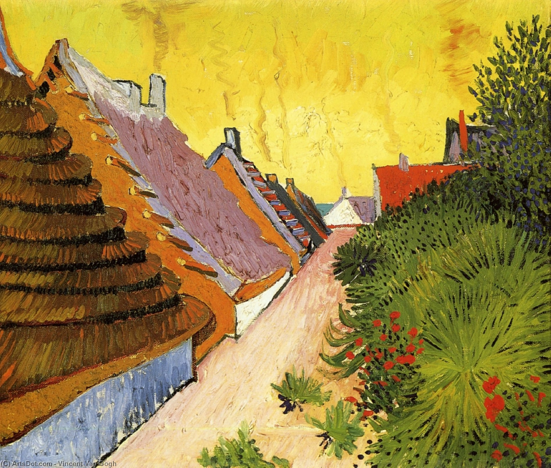 Wikioo.org - The Encyclopedia of Fine Arts - Painting, Artwork by Vincent Van Gogh - Street in Saintes-Maries