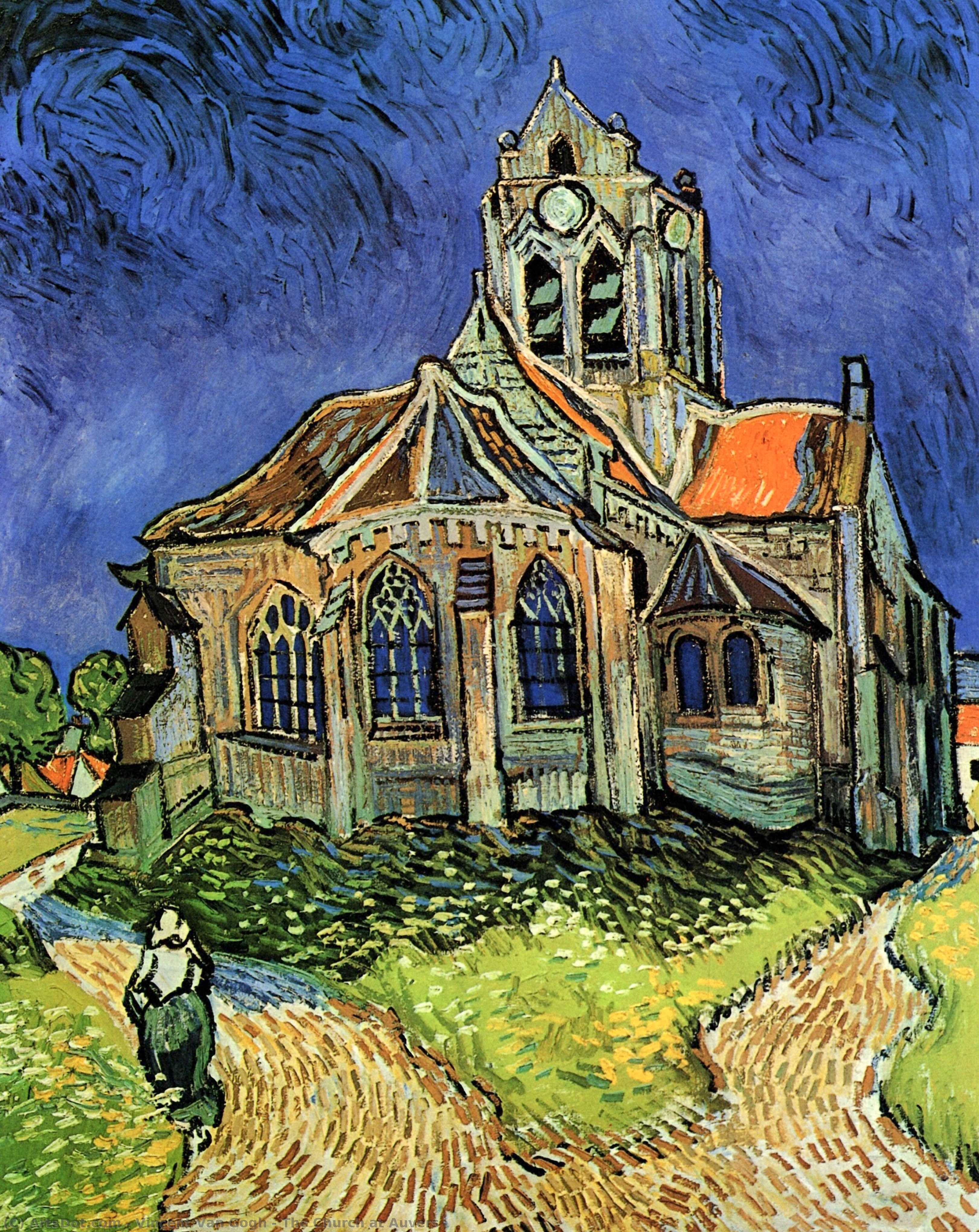 Wikioo.org - The Encyclopedia of Fine Arts - Painting, Artwork by Vincent Van Gogh - The Church at Auvers