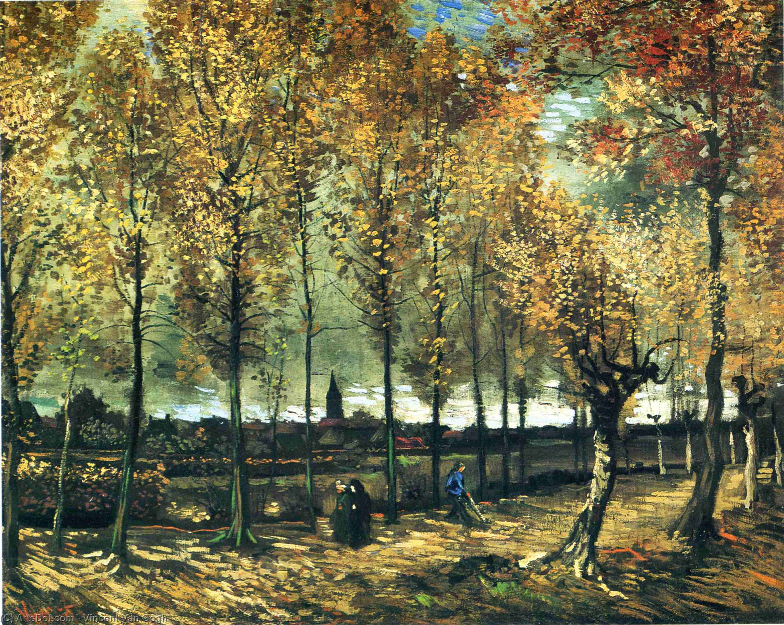 Wikioo.org - The Encyclopedia of Fine Arts - Painting, Artwork by Vincent Van Gogh - Lane with poplars near Nuenen