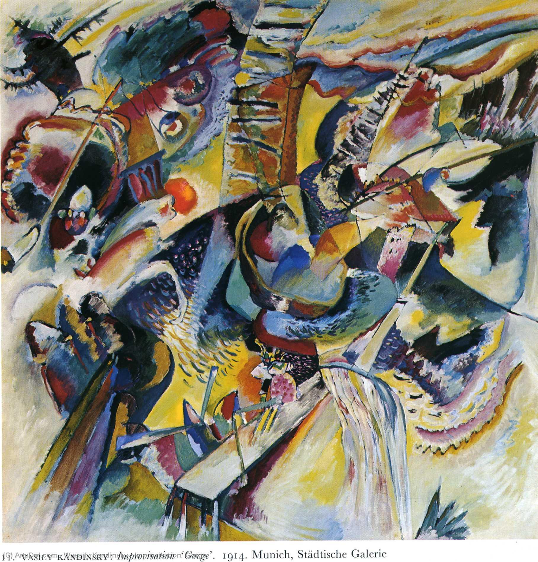 WikiOO.org - Енциклопедія образотворчого мистецтва - Живопис, Картини  Wassily Kandinsky - Improvisation. Gorge