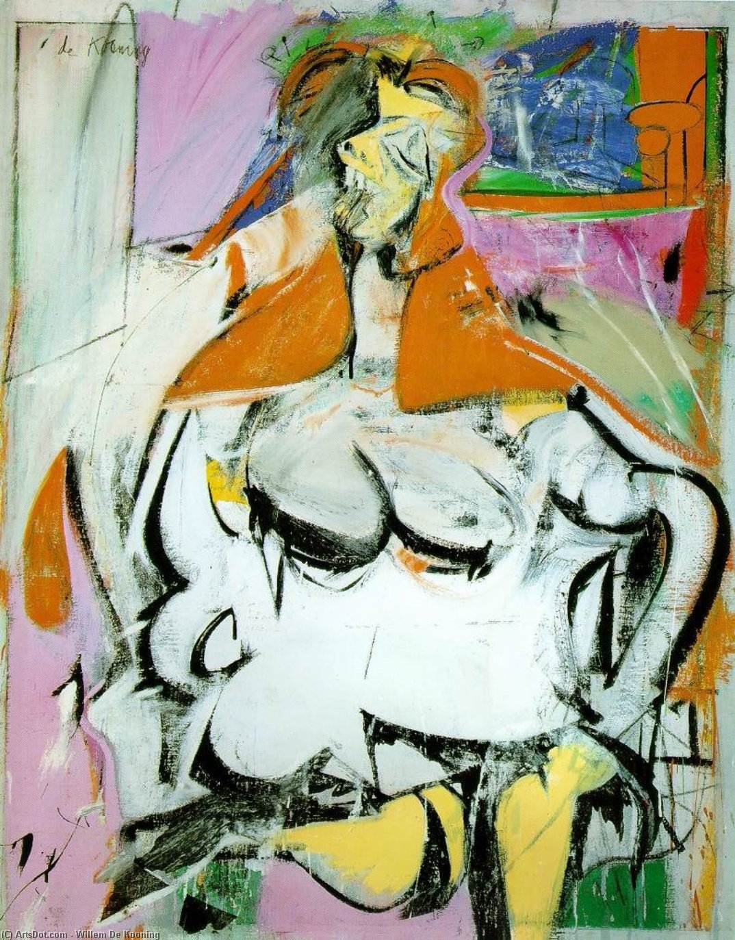 Wikioo.org - The Encyclopedia of Fine Arts - Painting, Artwork by Willem De Kooning - Woman