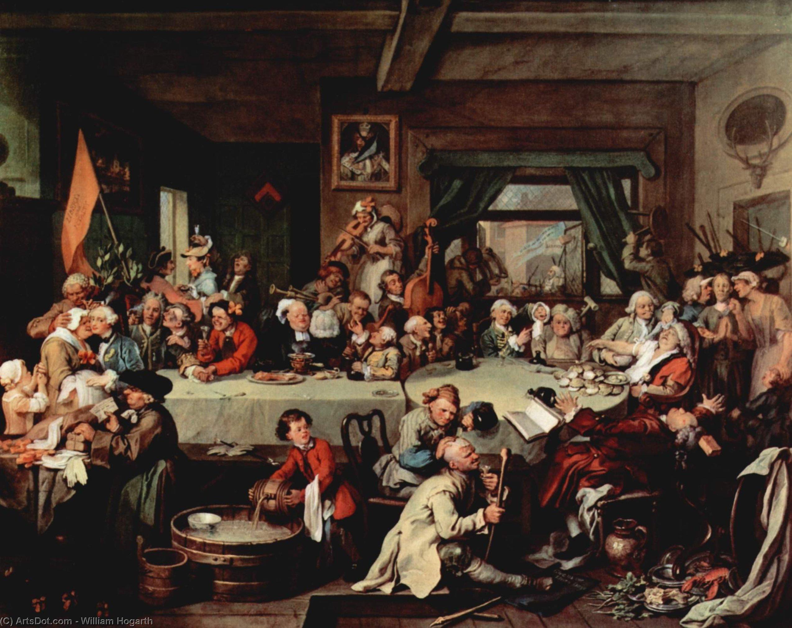 WikiOO.org - Enciklopedija dailės - Tapyba, meno kuriniai William Hogarth - The Banquet