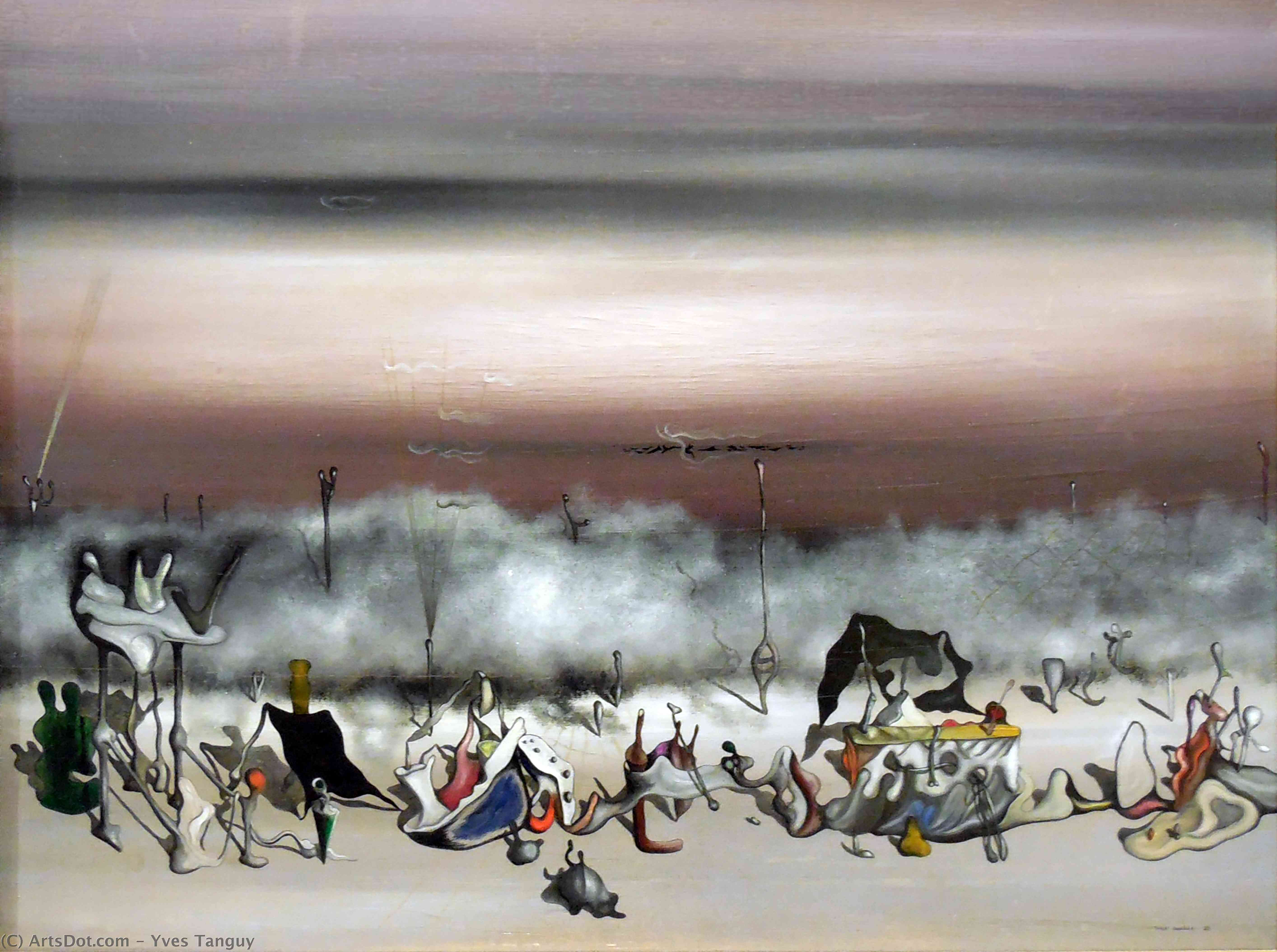 Wikioo.org - The Encyclopedia of Fine Arts - Painting, Artwork by Yves Tanguy - The Ribbon of Excess